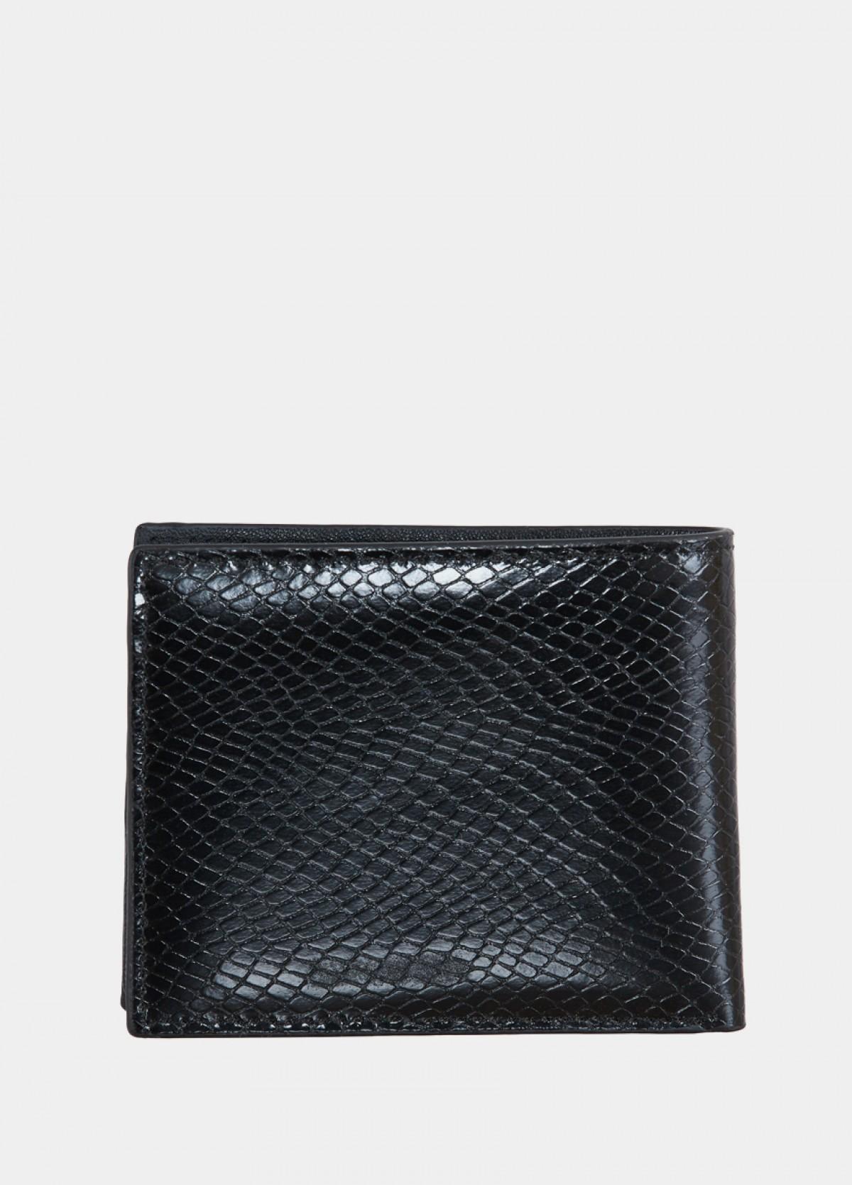 The Black Leather Men Wallet