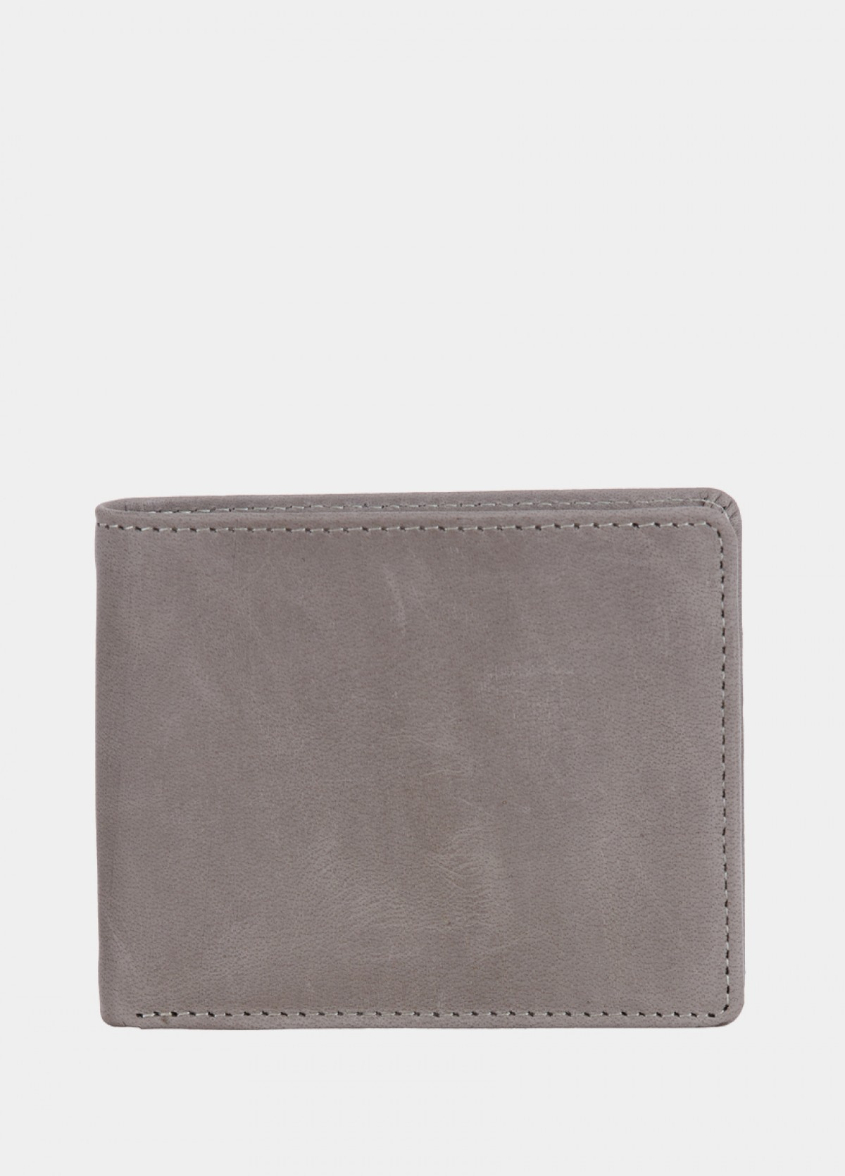 The Grey Leather Men Wallet