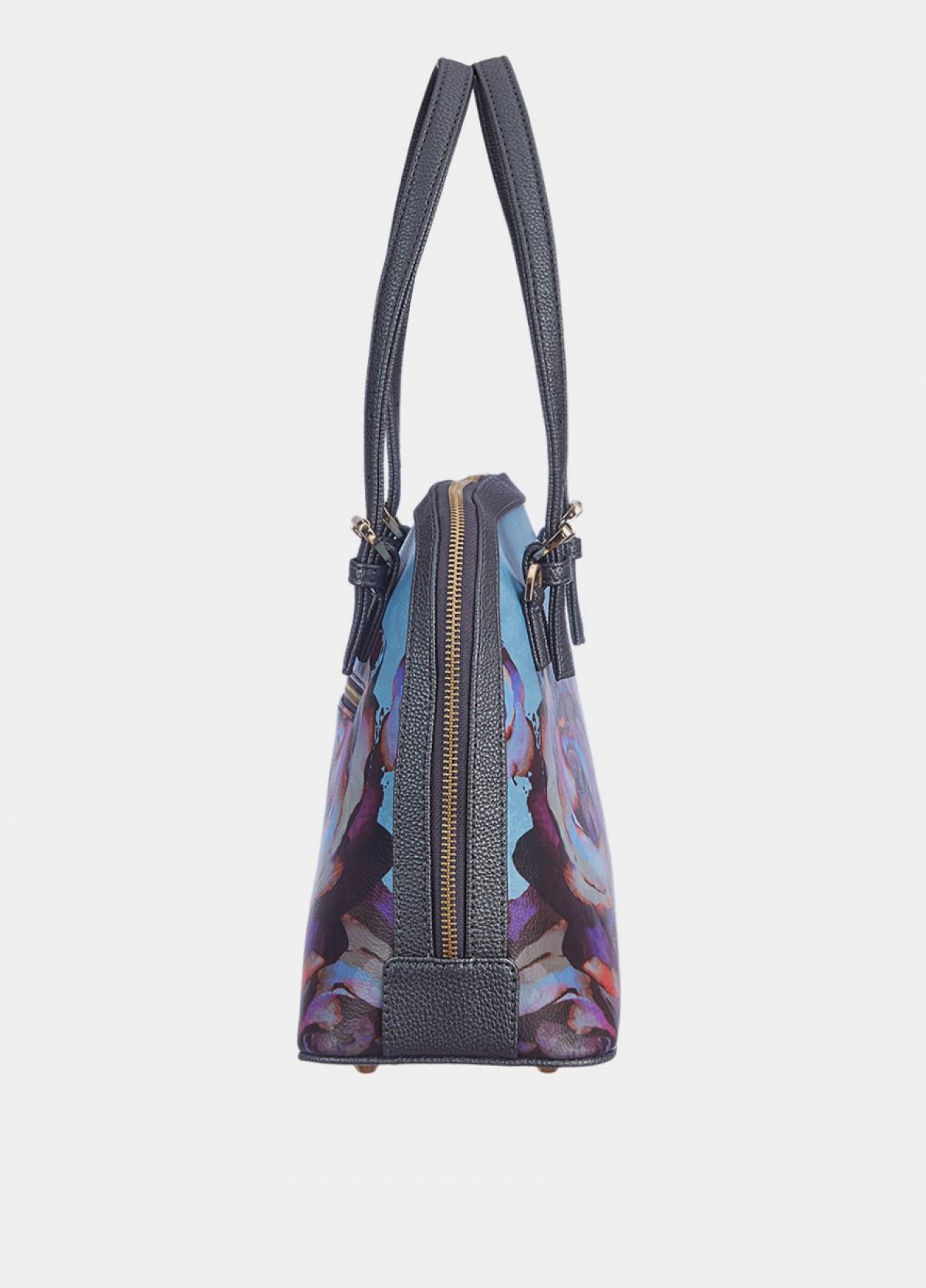 The Winter Florals D Shape Bag