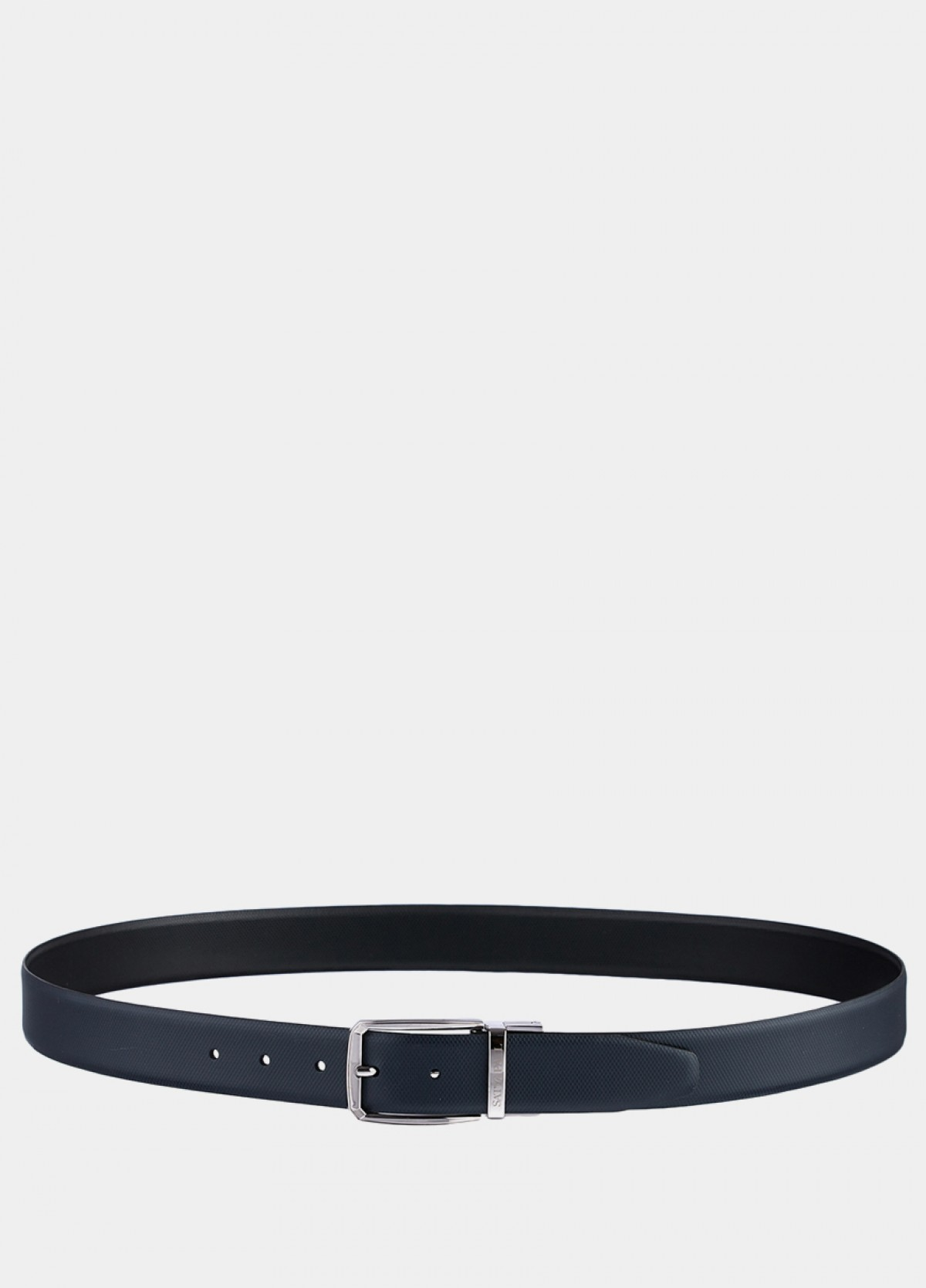 The Reversible Black And Navy Leather Belt
