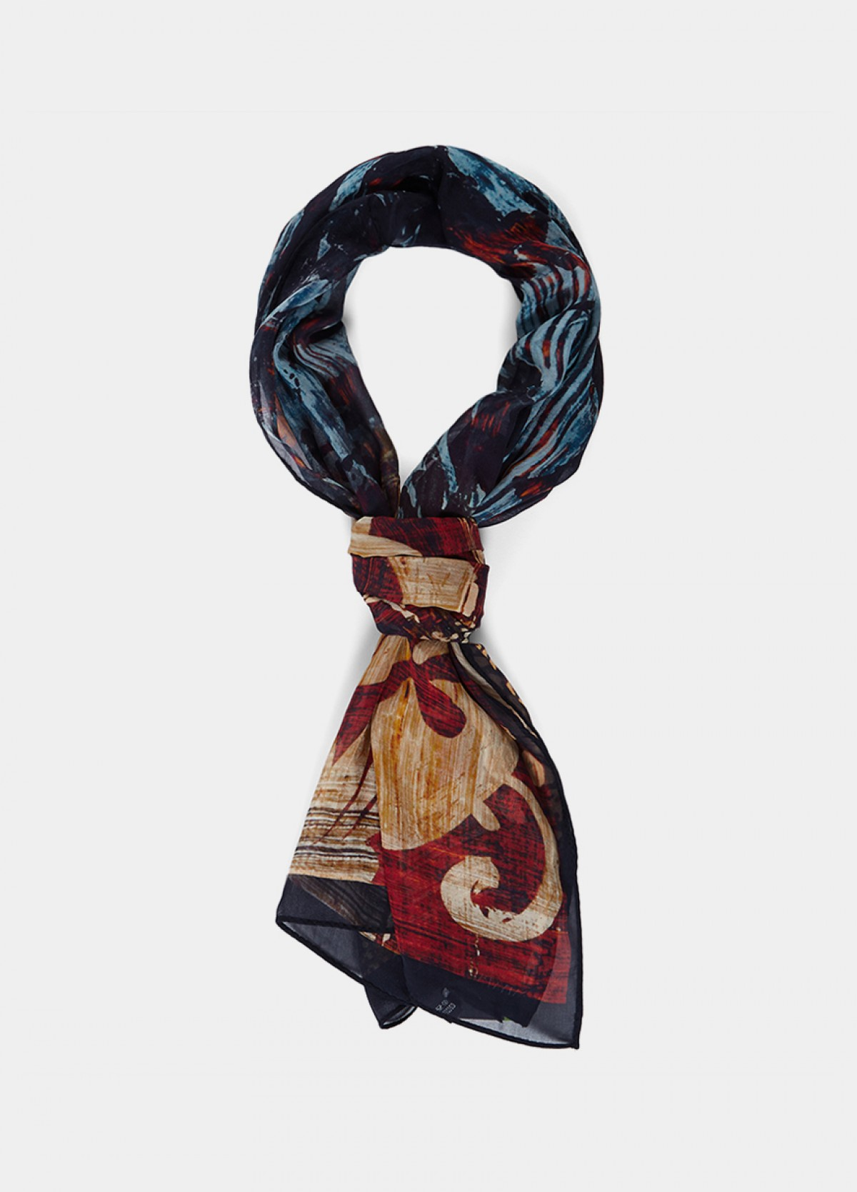 The Pure Silk Printed Stole