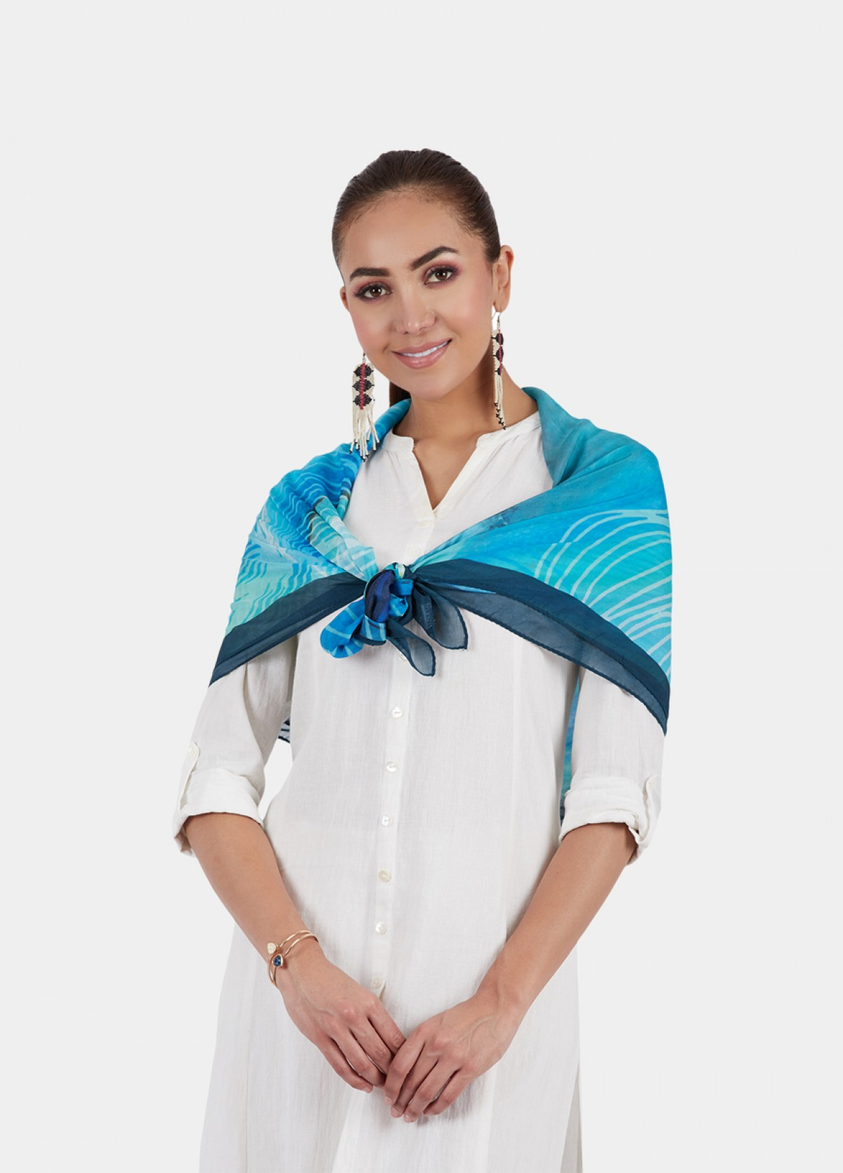 The Pure Silk Printed Scarf