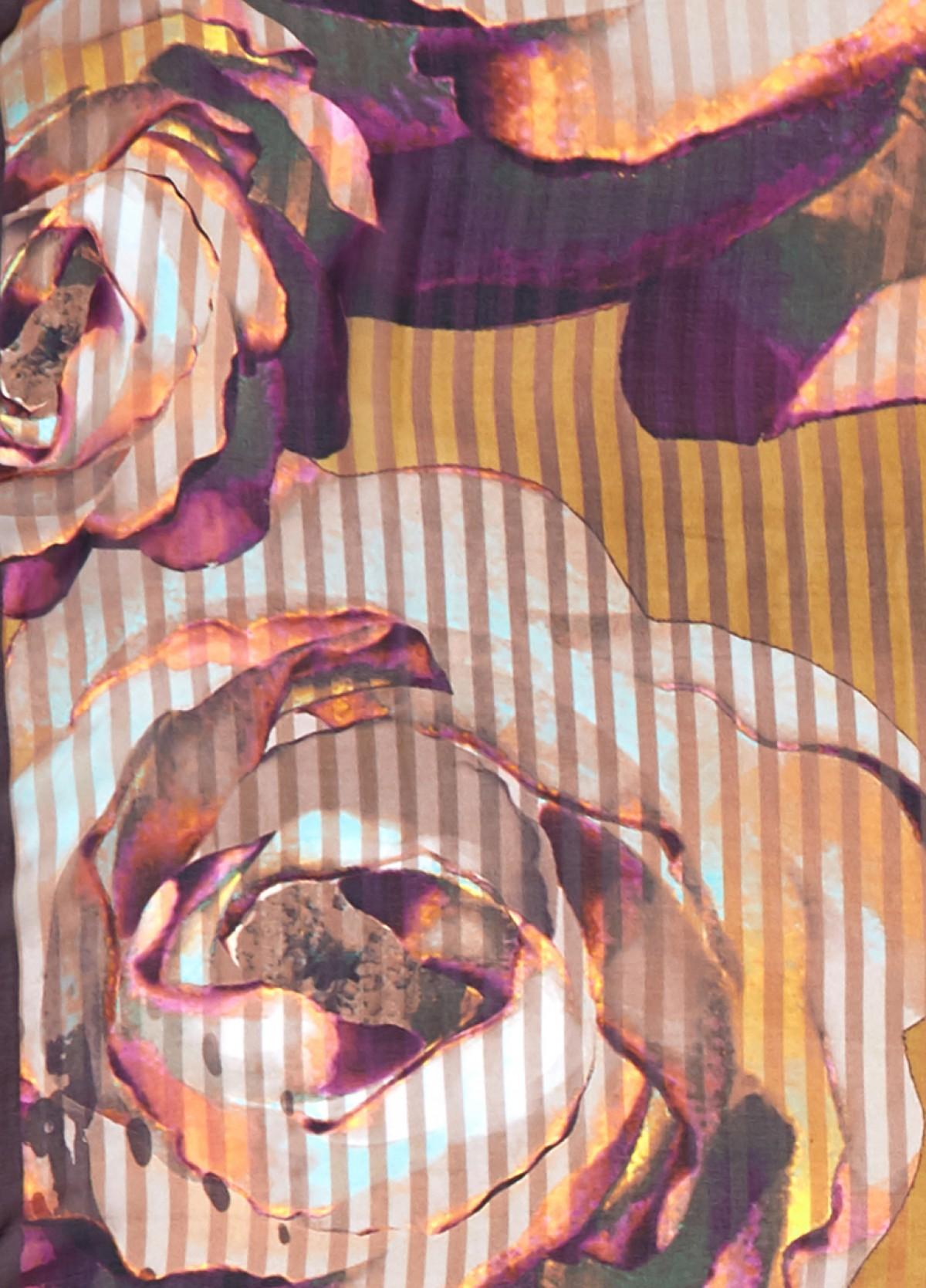 The Floral Streaks Printed Scarf