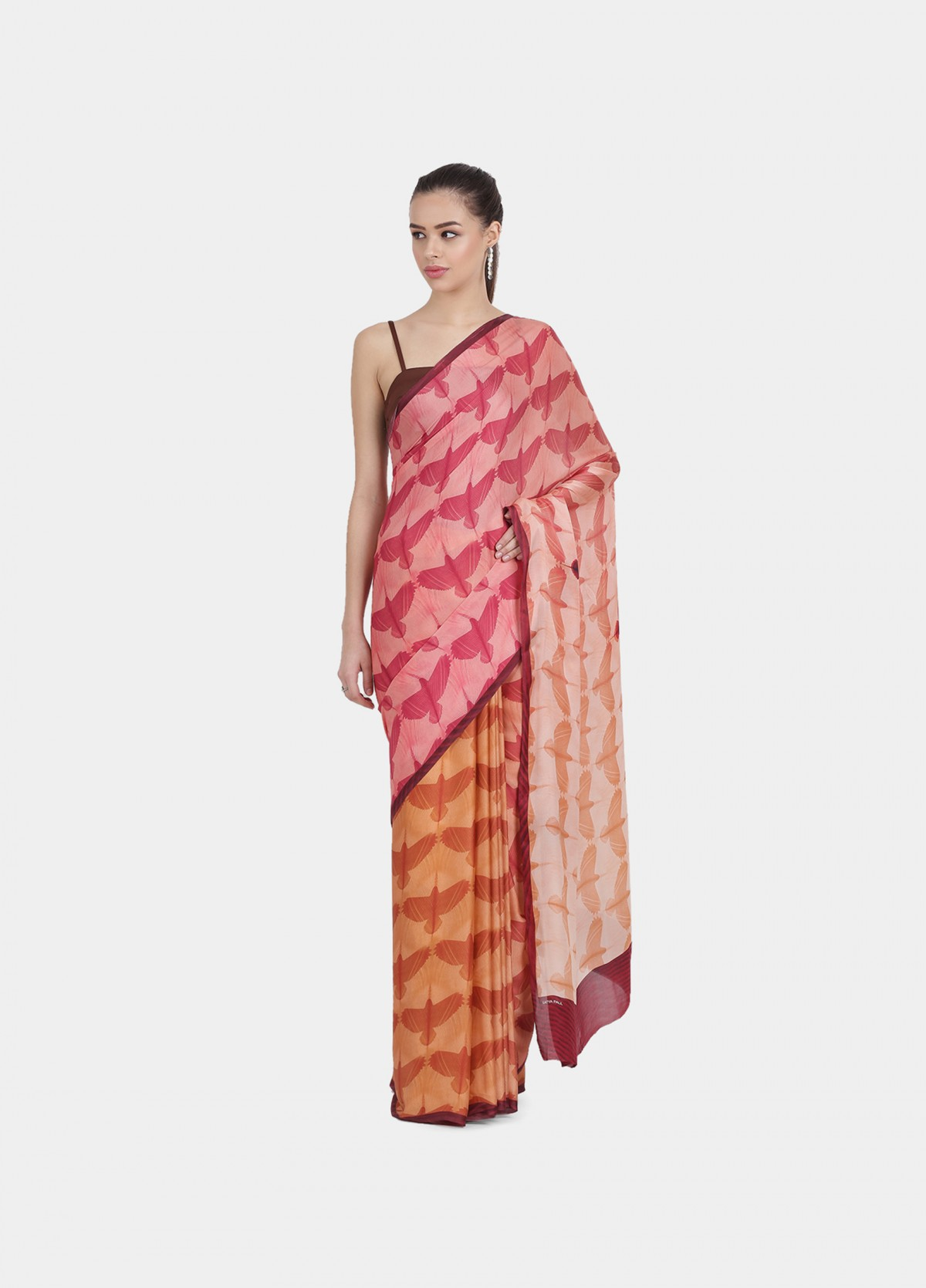 The Flock Together Sari