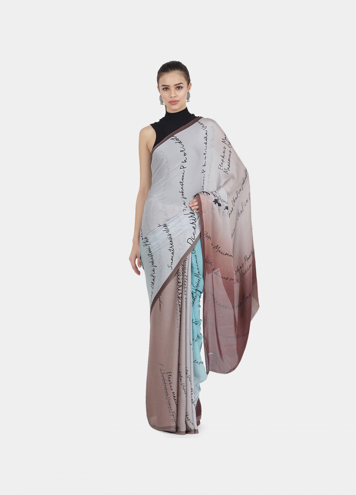 The Jungle Echo Sari