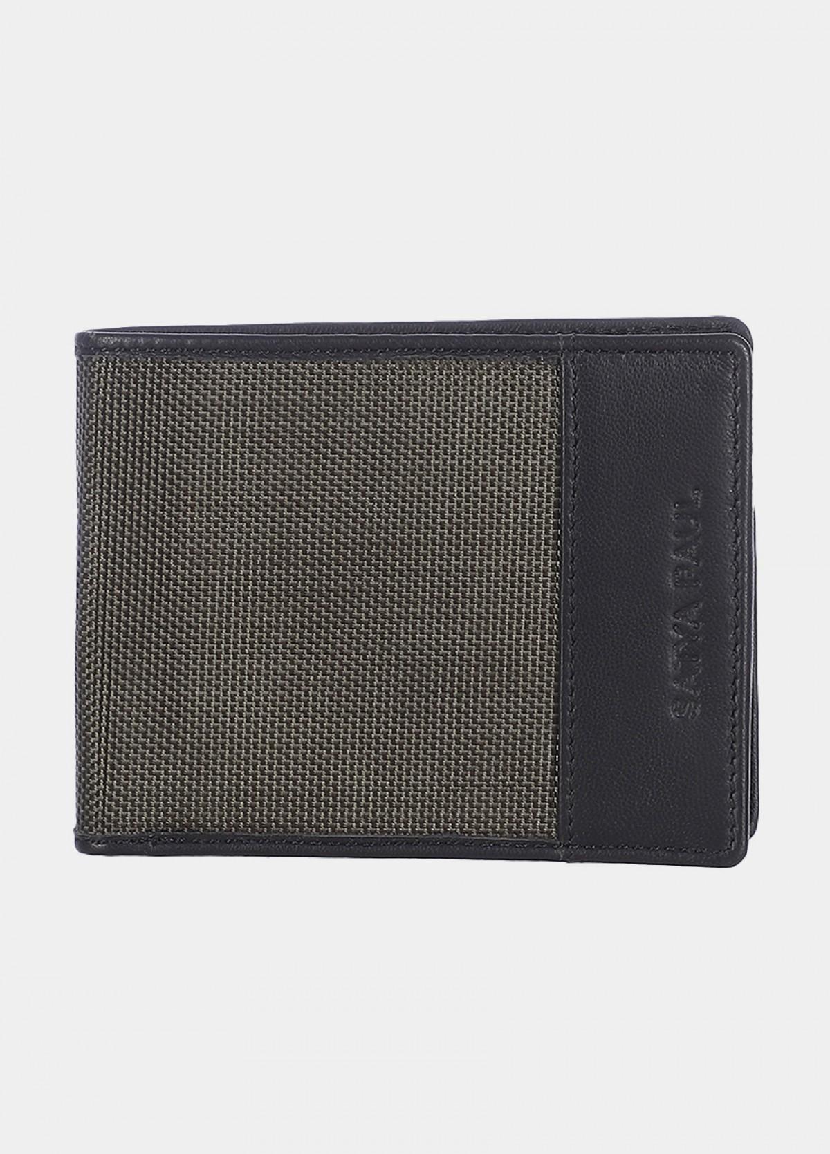 Him & The City Men'S Bi Fold Wallet Olive