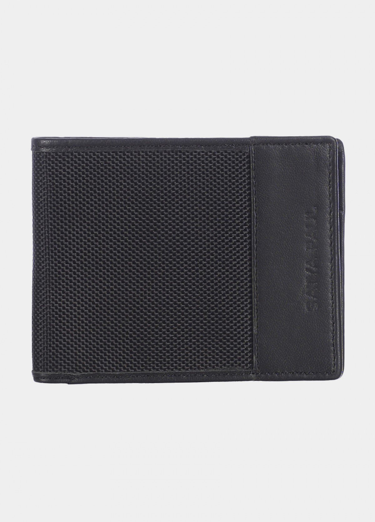 Him & The City Men'S Bi Fold Wallet With Coin Pocket Black