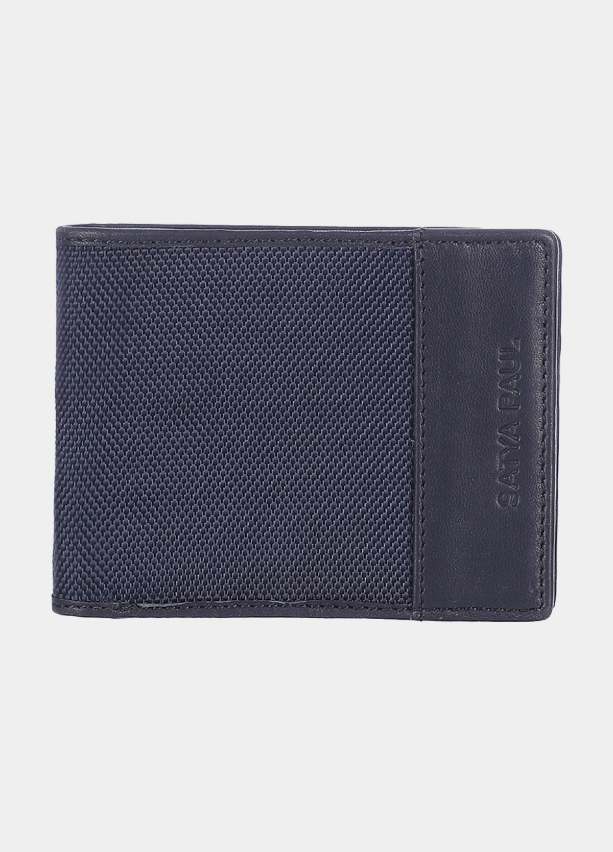 Him & The City Men's Bi Fold Wallet With Coin Pocket Navy