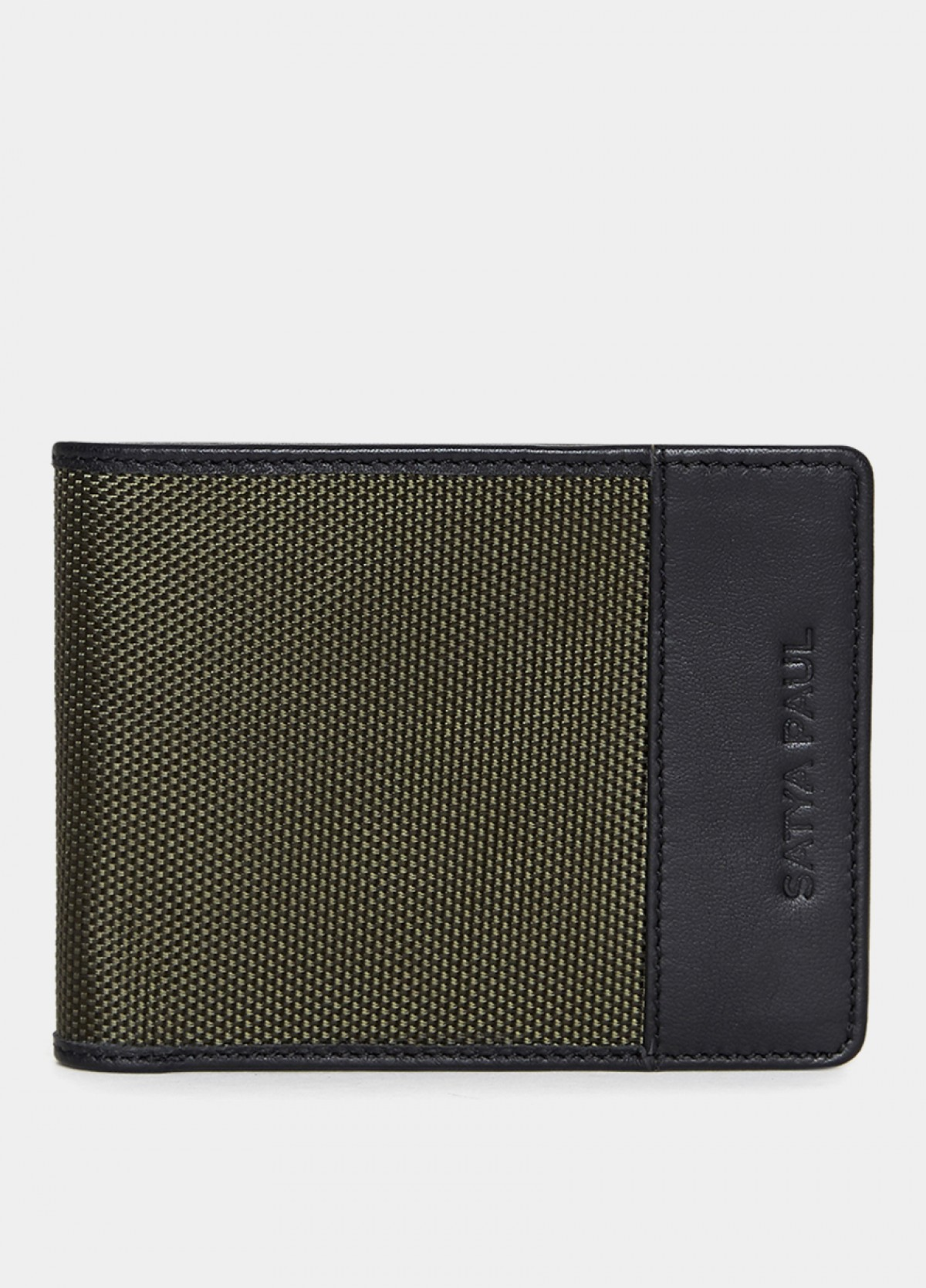 The Him & The City Men'S Bi Fold Wallet With Coin Pocket Olive