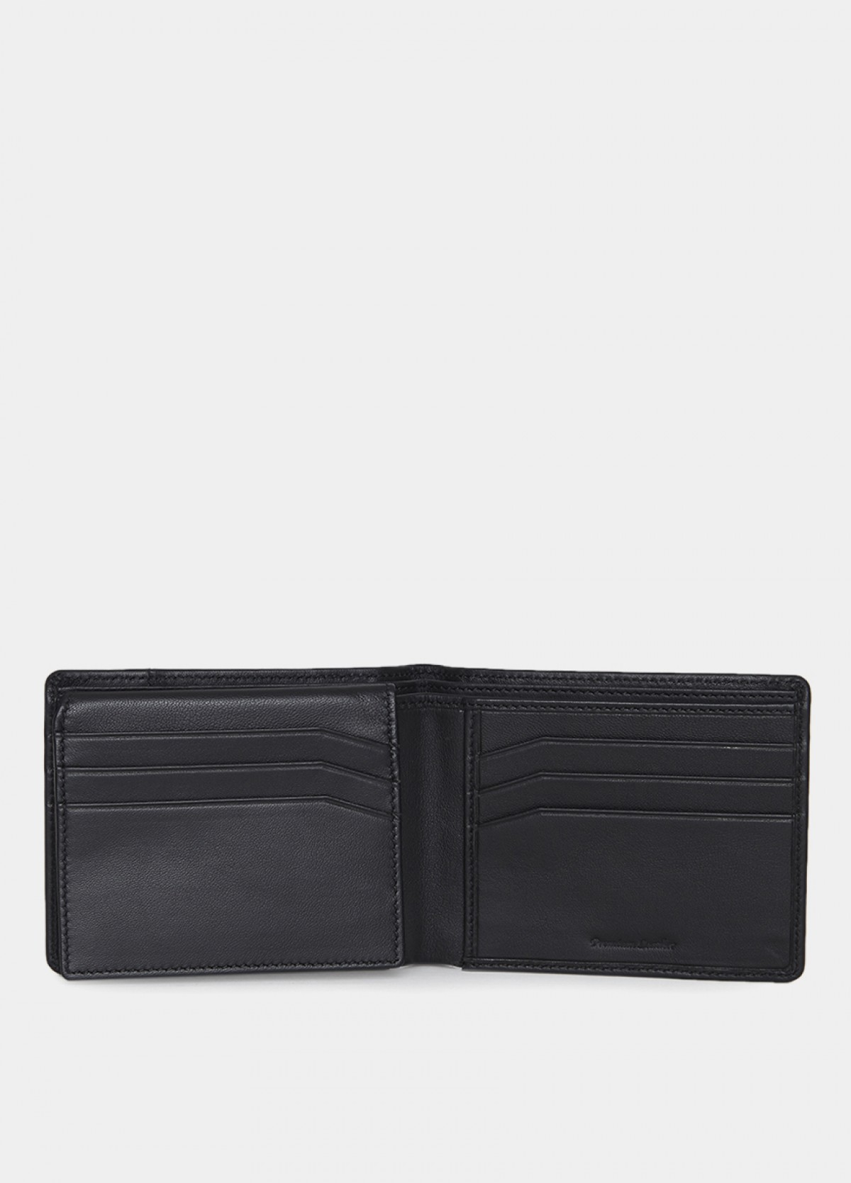 The Him & The City Men'S Bi Fold Wallet With Id Flap Black