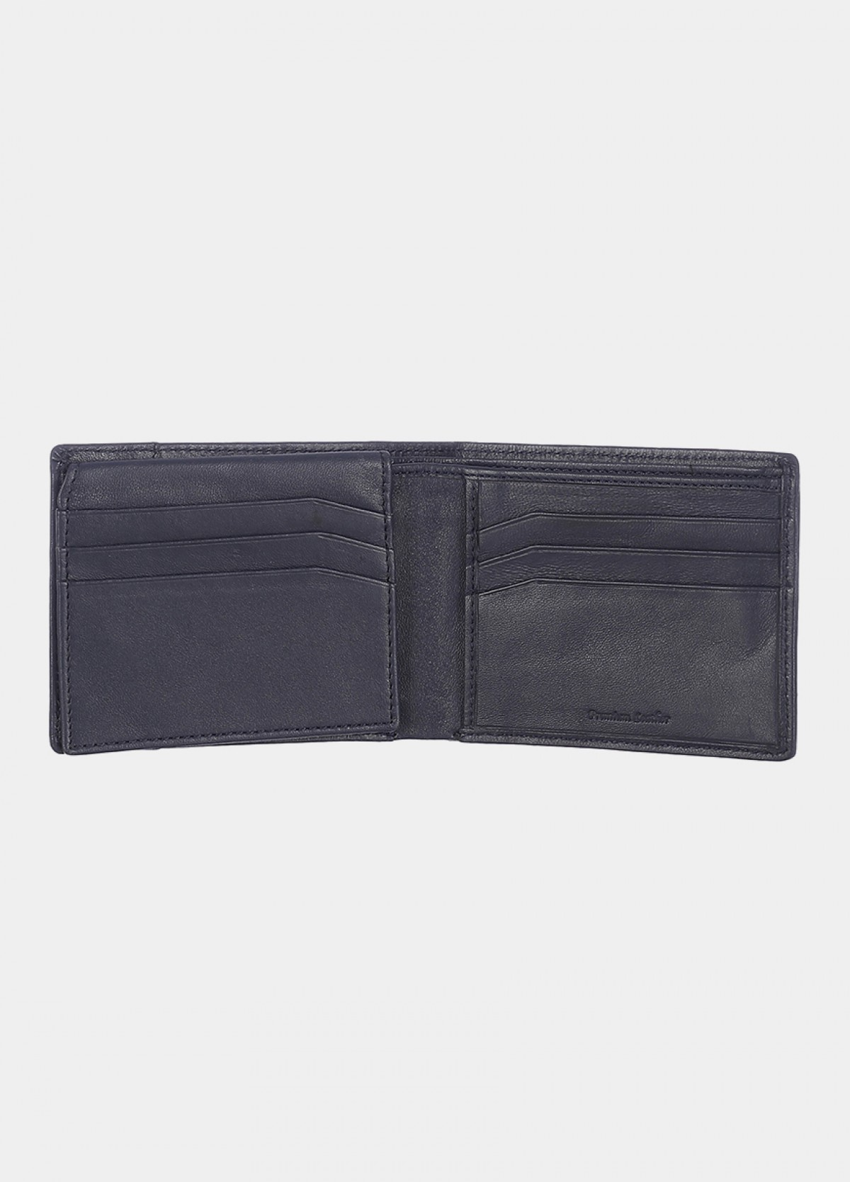 Him & The City Men's Bi Fold Wallet With Id Flap Navy