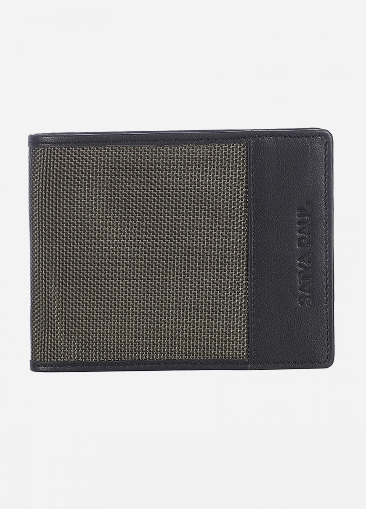 Him & The City Men's Bi Fold Wallet With Id Flap Olive