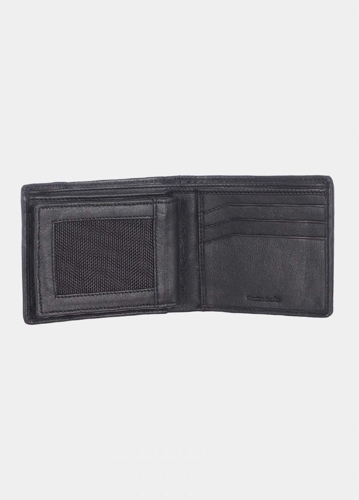 Him & The City Men'S Black Bi-Fold Wallet With Cc Insert