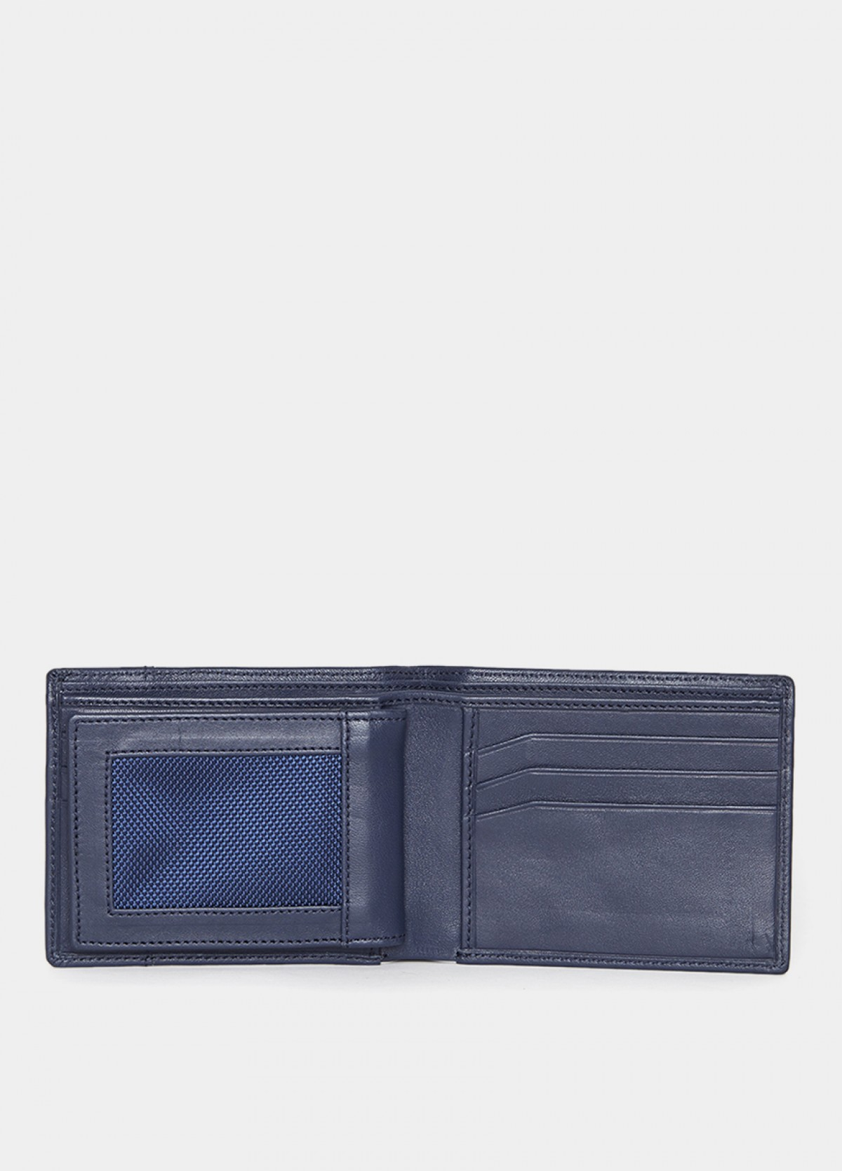 The Him & The City Men'S Bi Fold Wallet With Cc Insert Navy