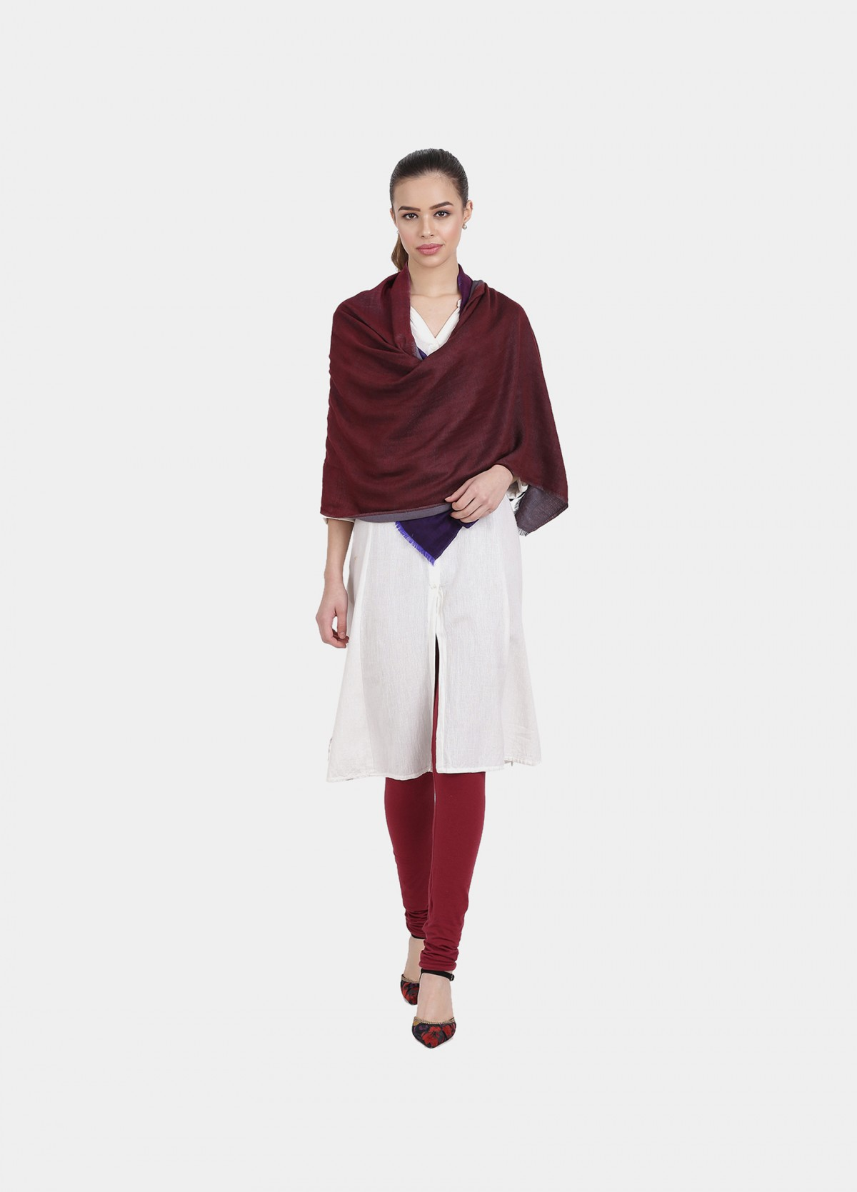 The Ombre Reversible Wool Stole