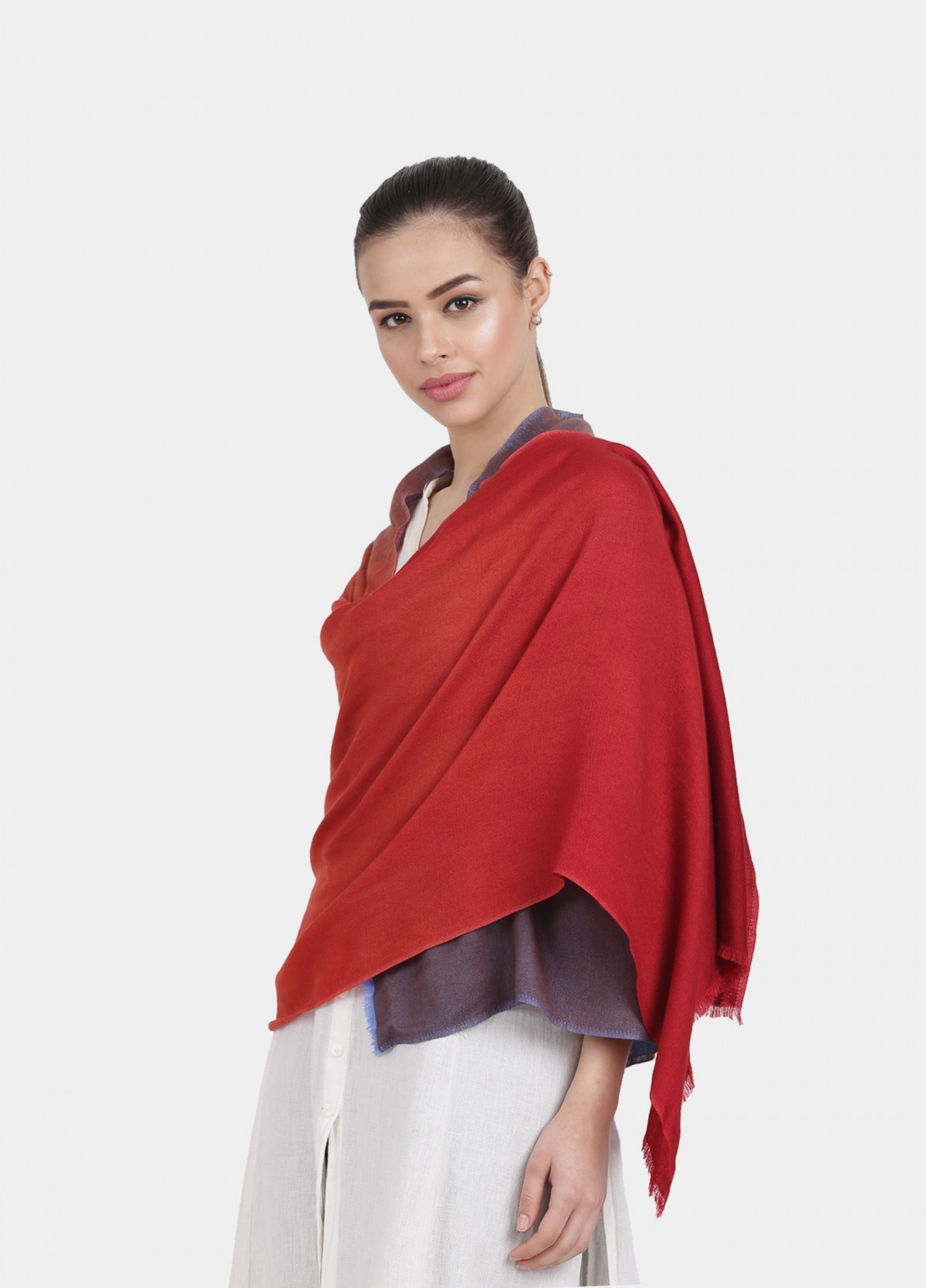 The Four Shaded Ombre Wool Stole