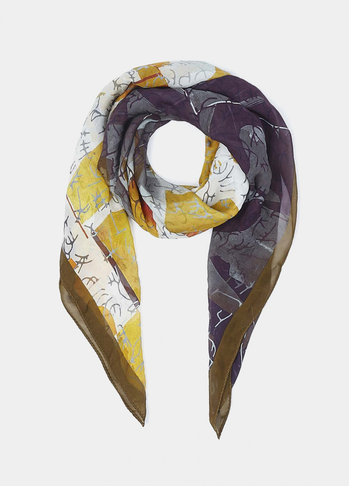 The Number Play Printed Scarf