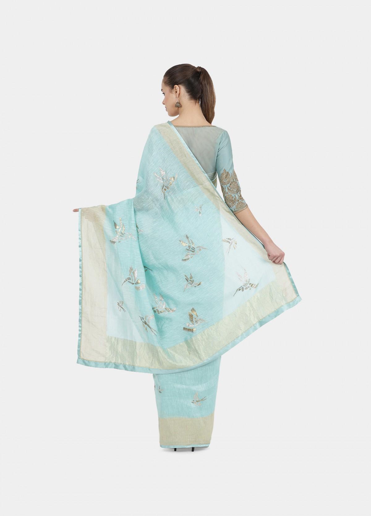 The Humming Birds Sari