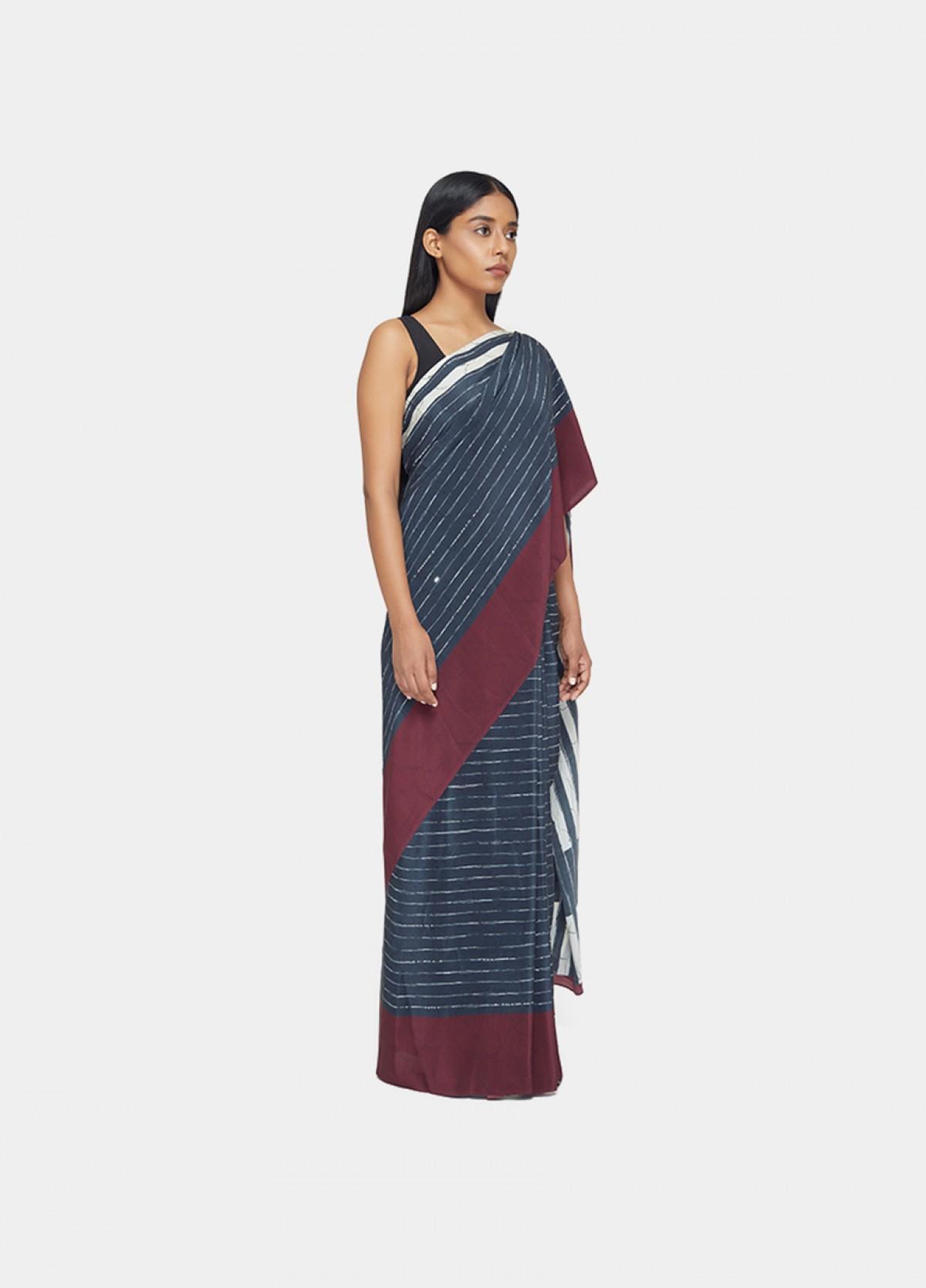 The Marti Stripe Sari