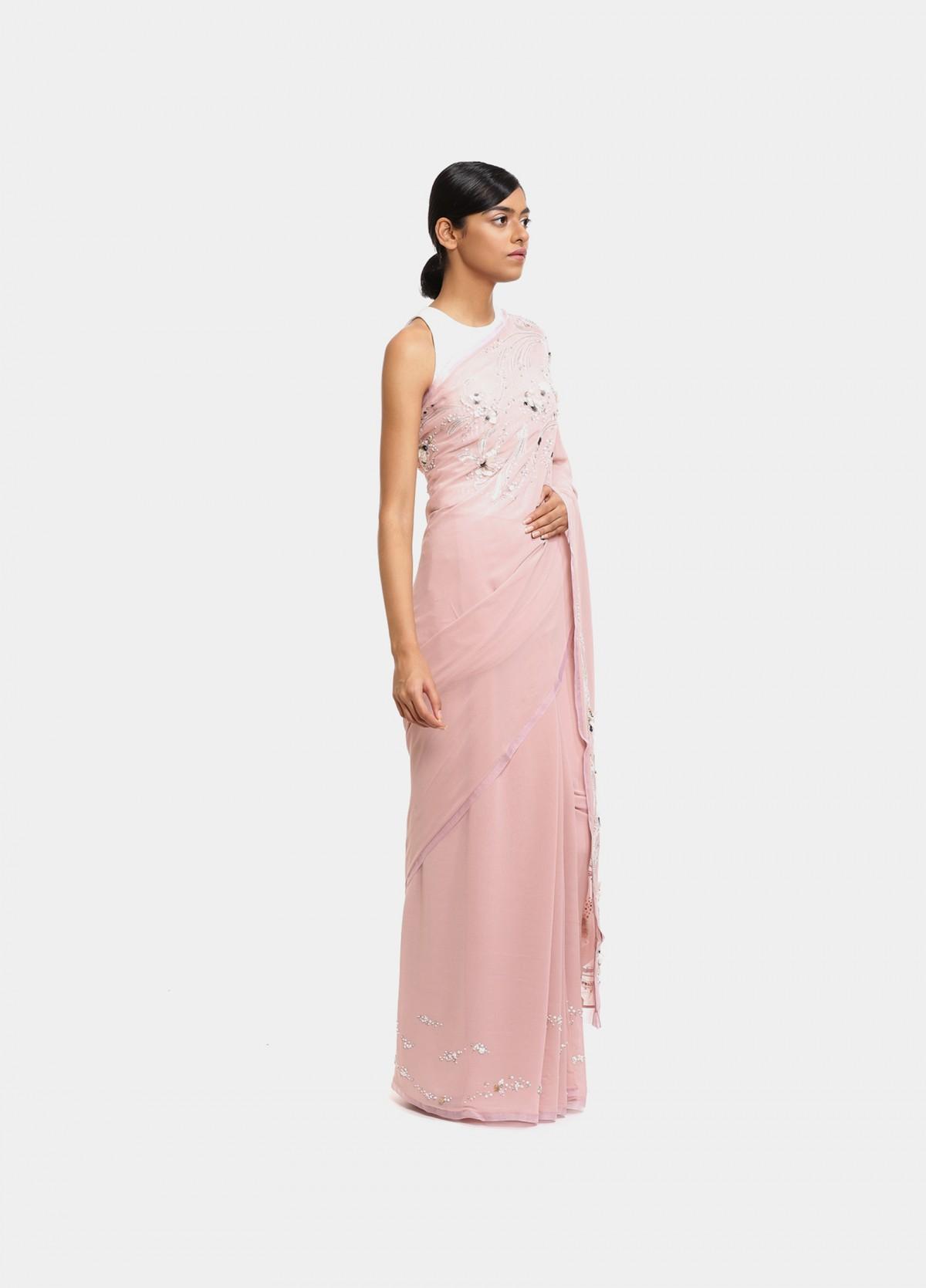 The Petal Swirls Sari