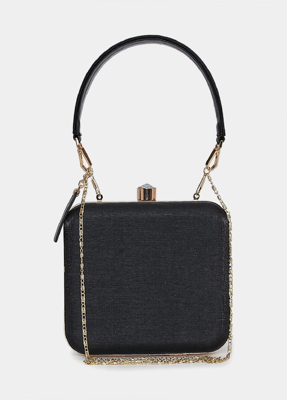 The Black Embellished Clutch