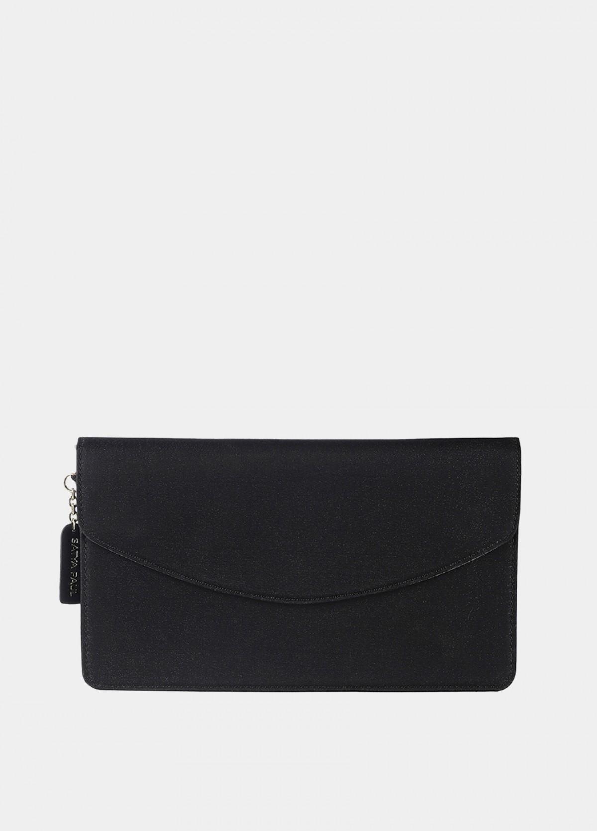 The Black Embellished Envelope Clutch