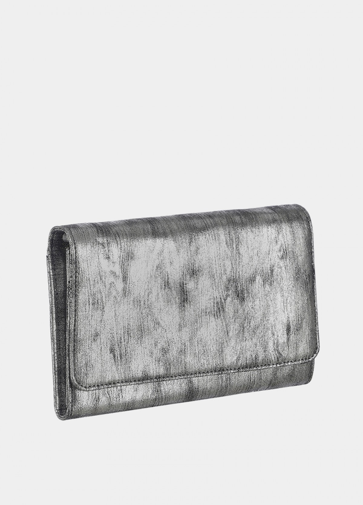 The Silver Embellished Clutch