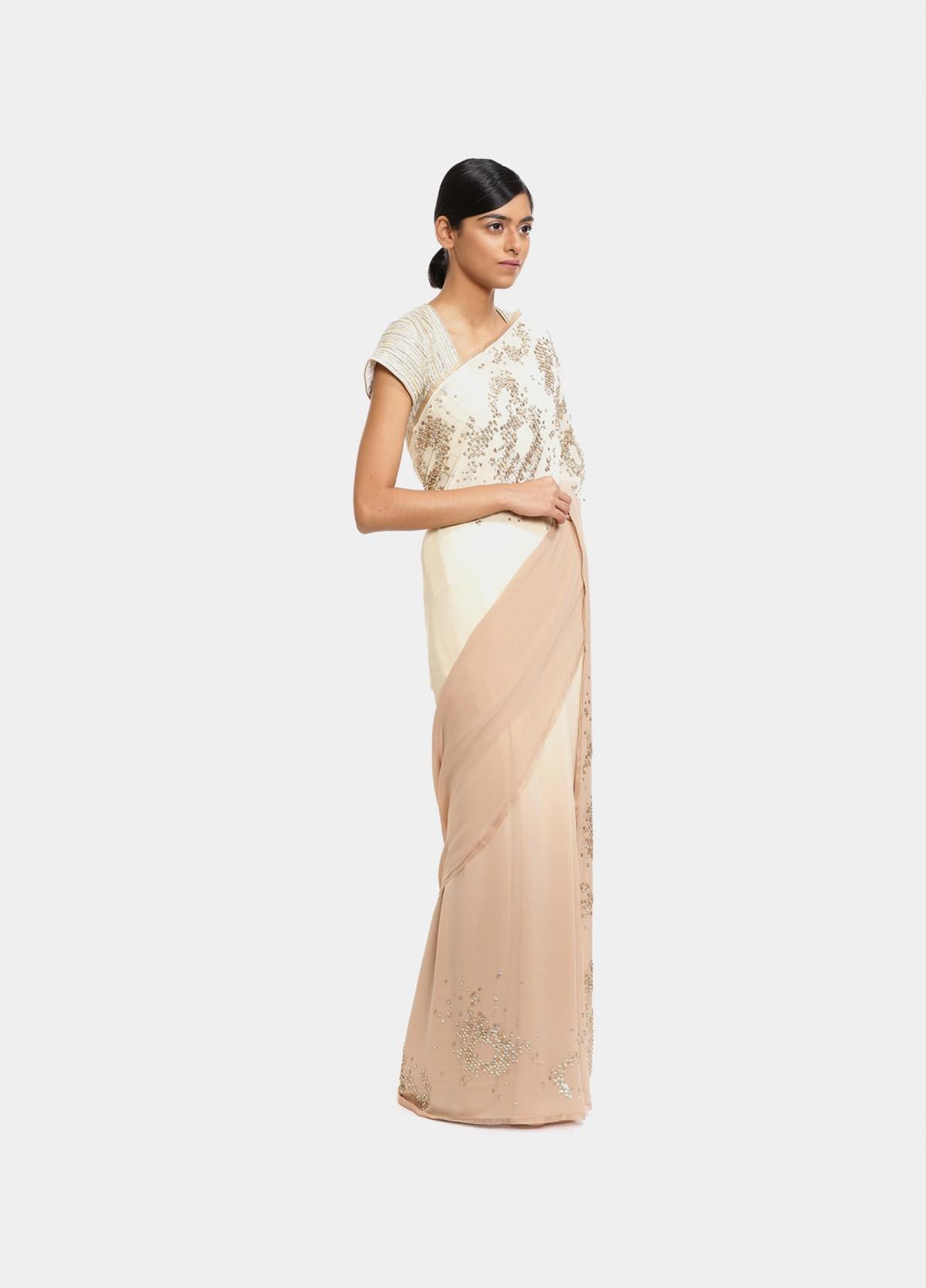 The Floral Dabs Sari