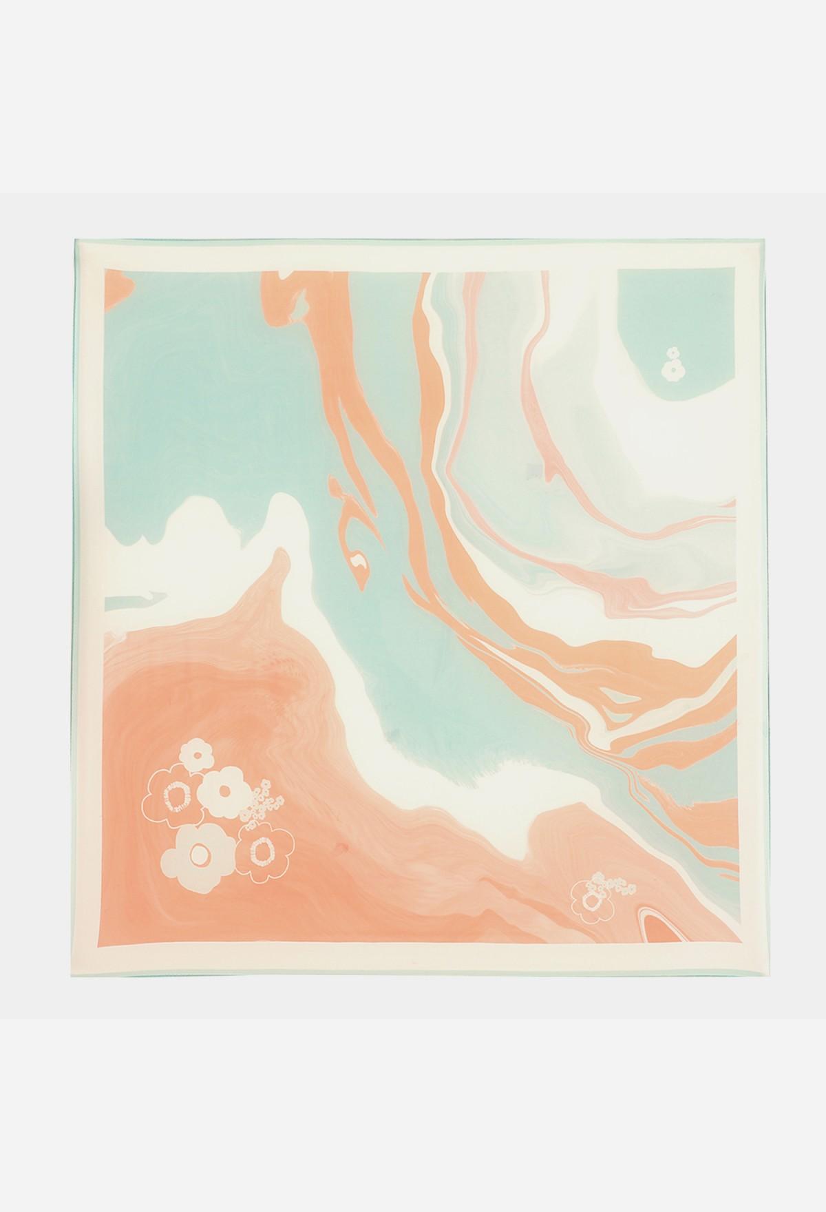 The Furano Flat Silk Chiffon Scarf