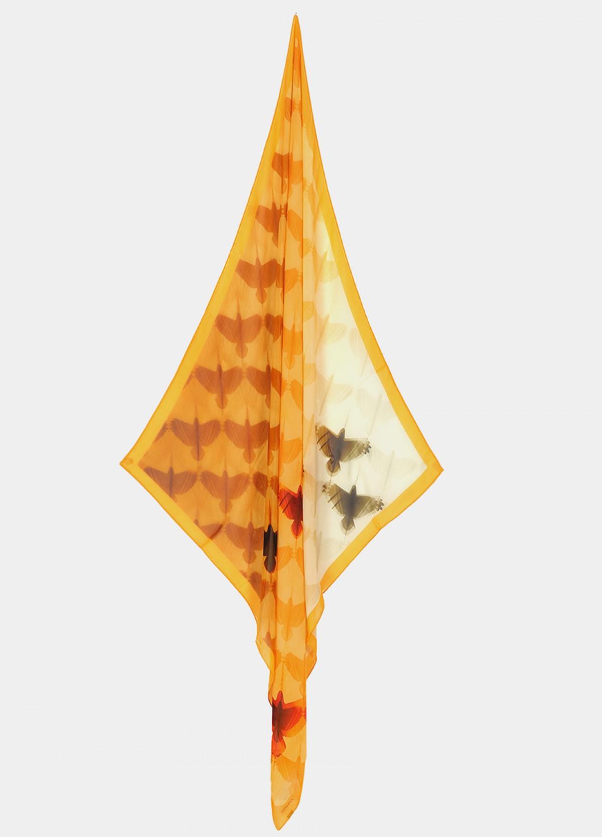 The Flock Together Silk Flat Chiffon Scarf