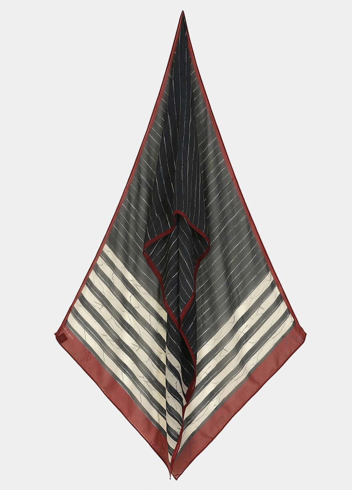 The Sanganer Symphony Silk Flat Chiffon Stole