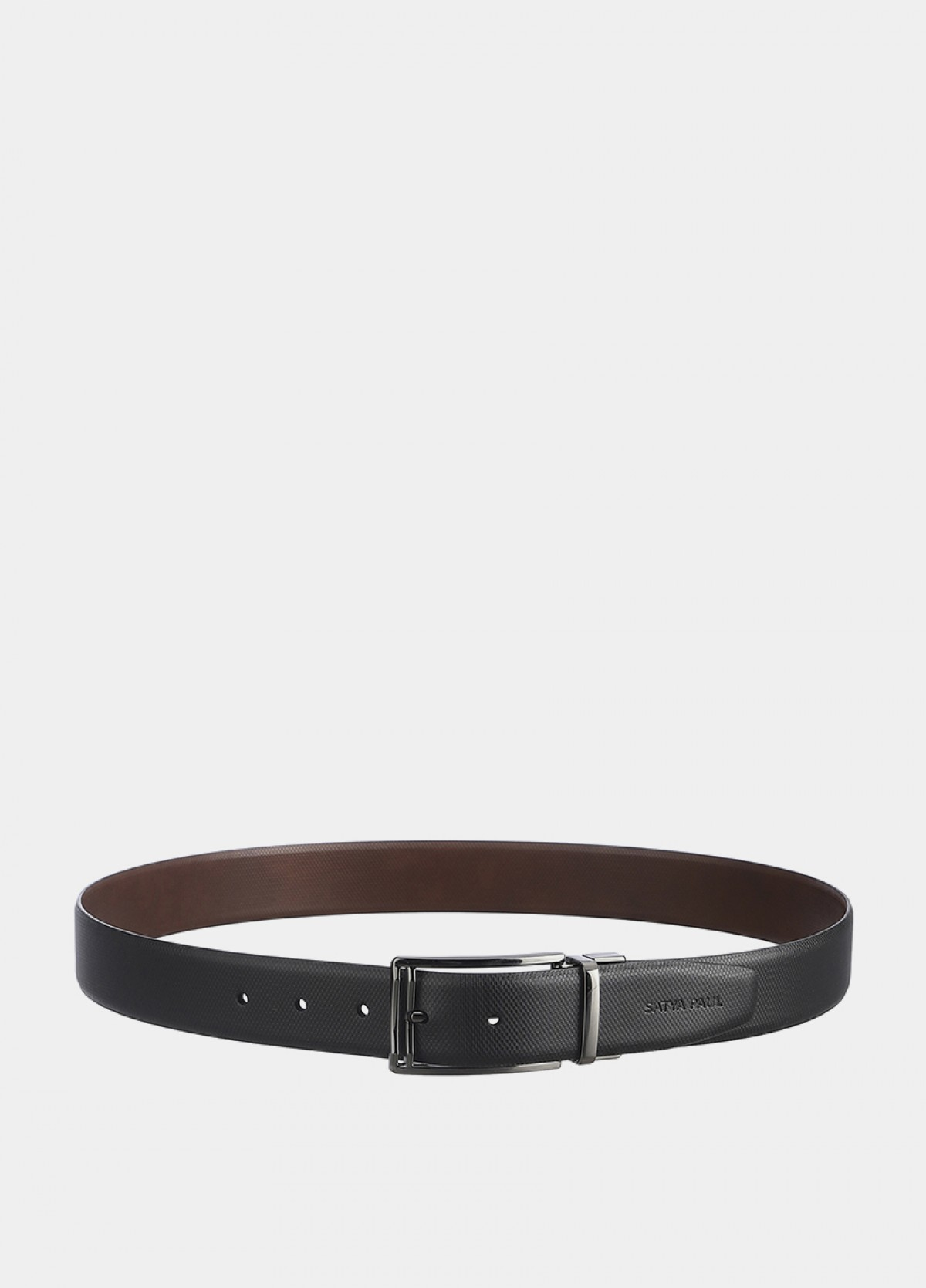 The Reversible Black Leather Belt
