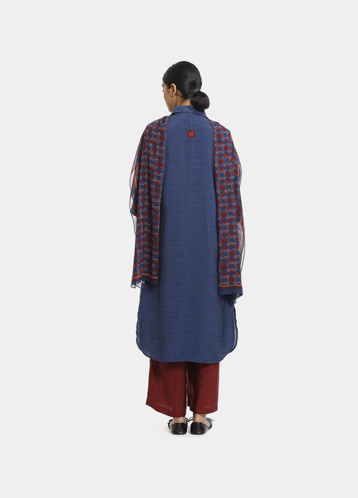 The Boond Indigo blue kurta set