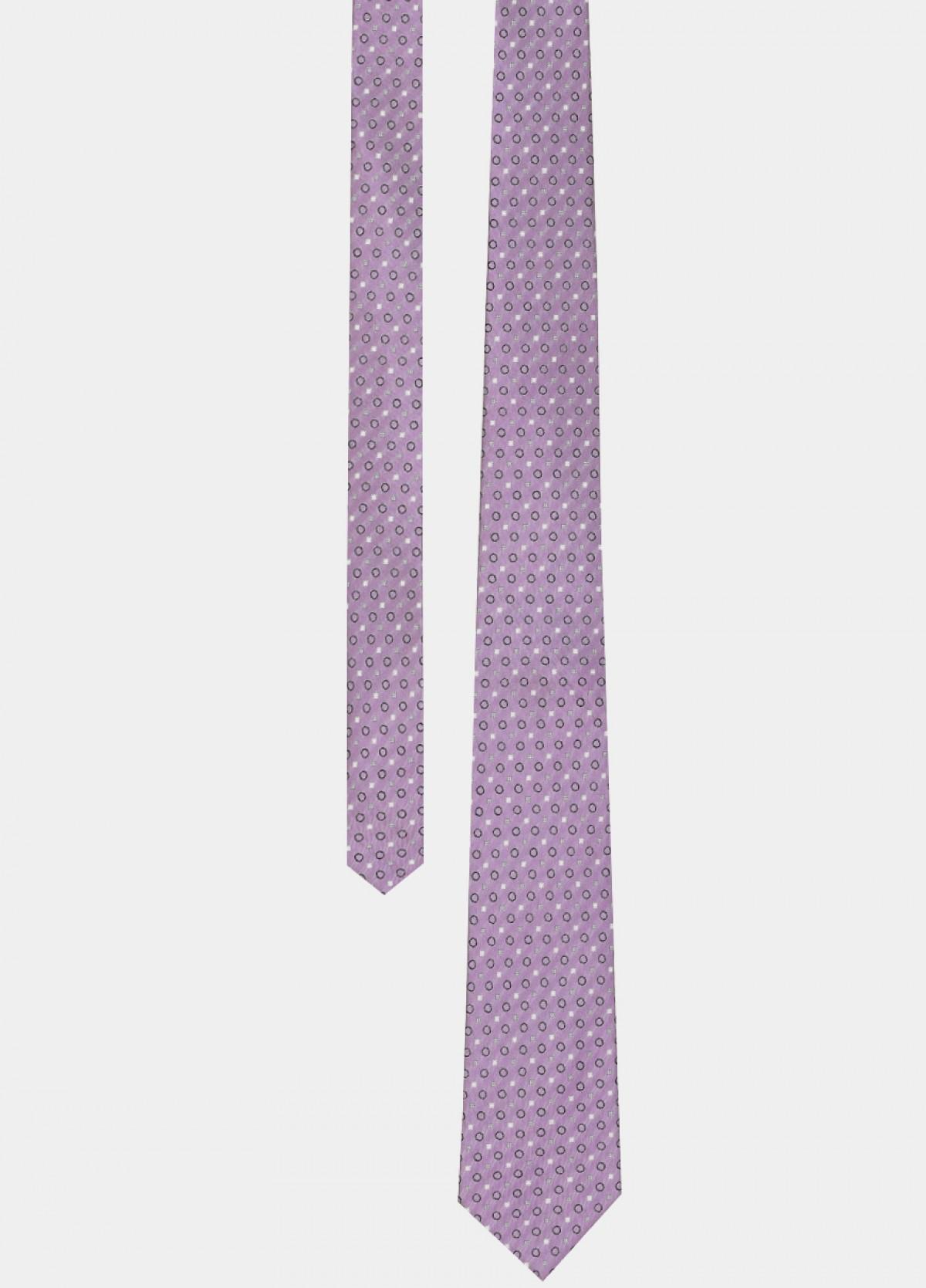 Purple Woven Silk Tie