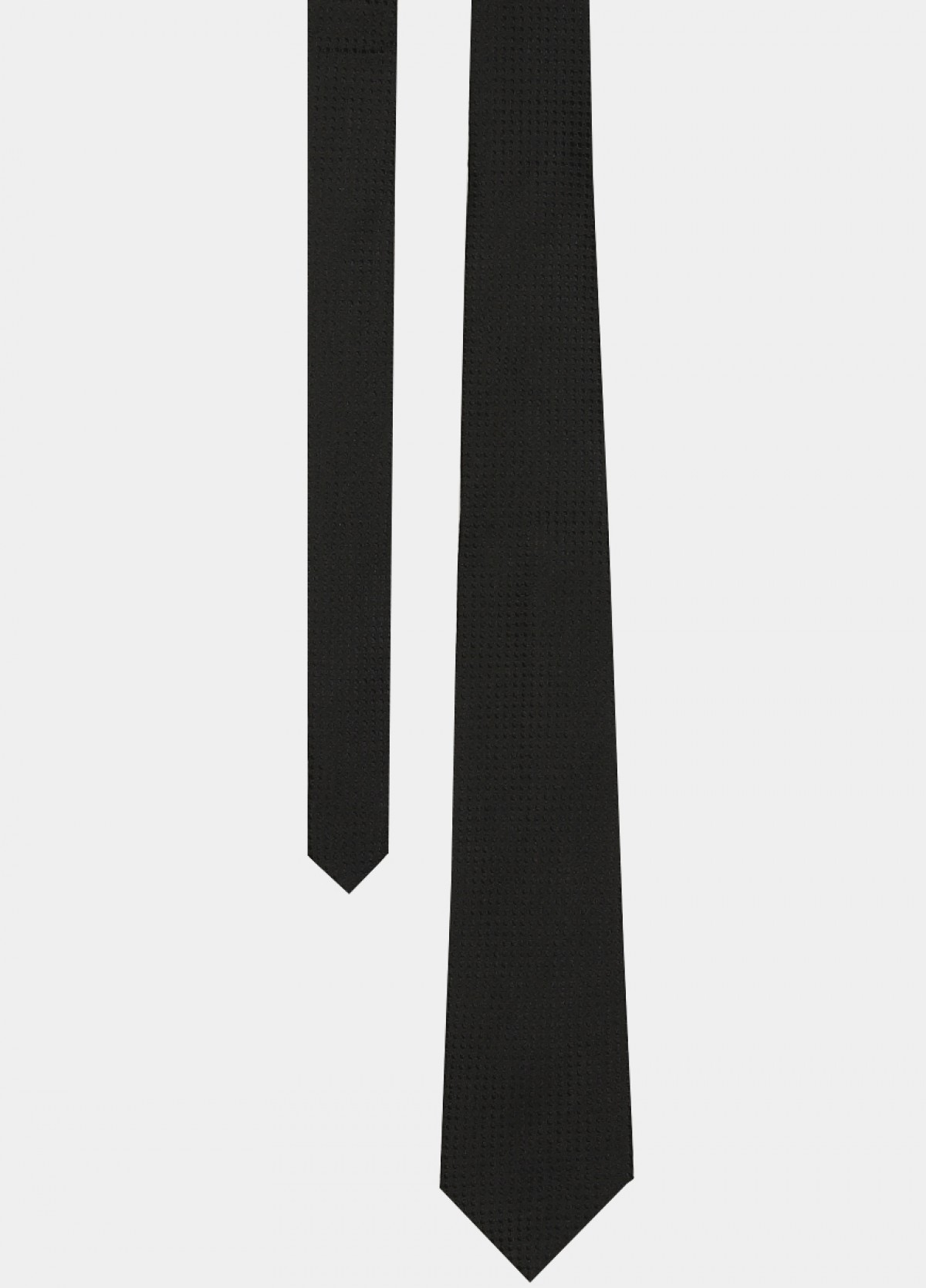 Black Woven Silk Tie