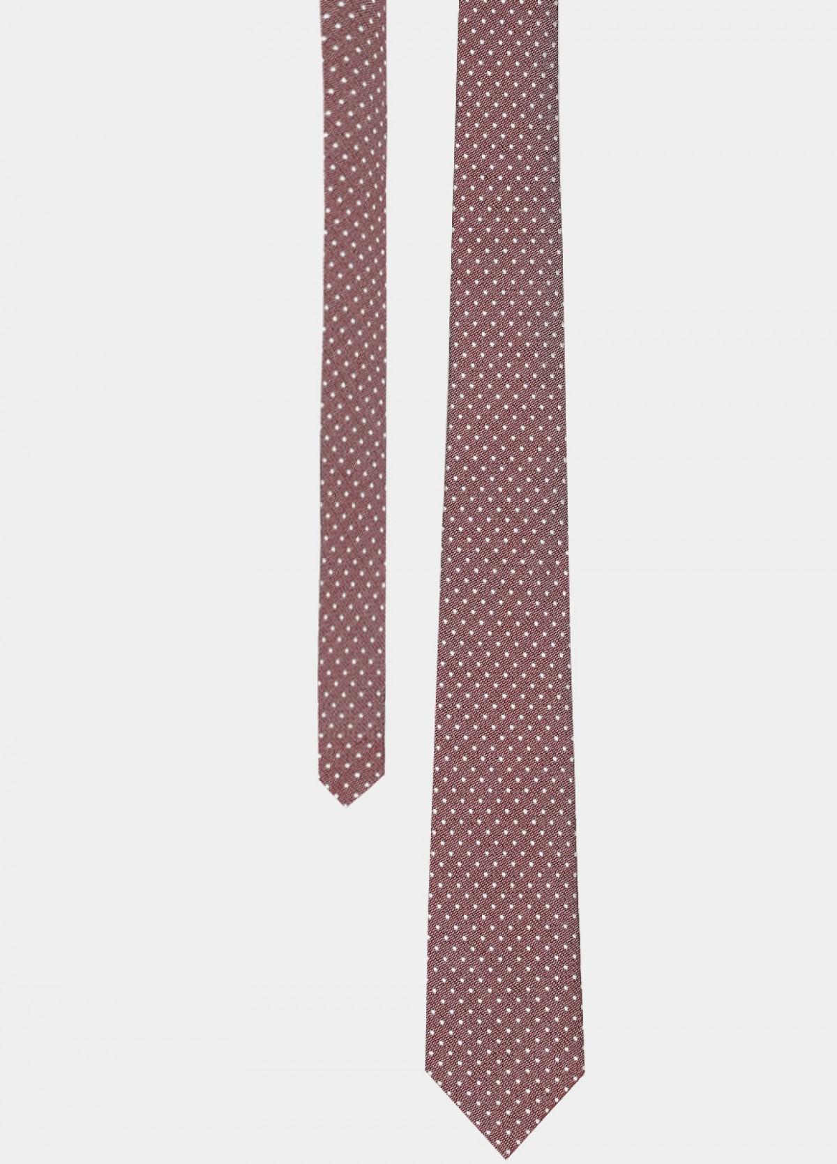 Maroon Woven Silk Tie