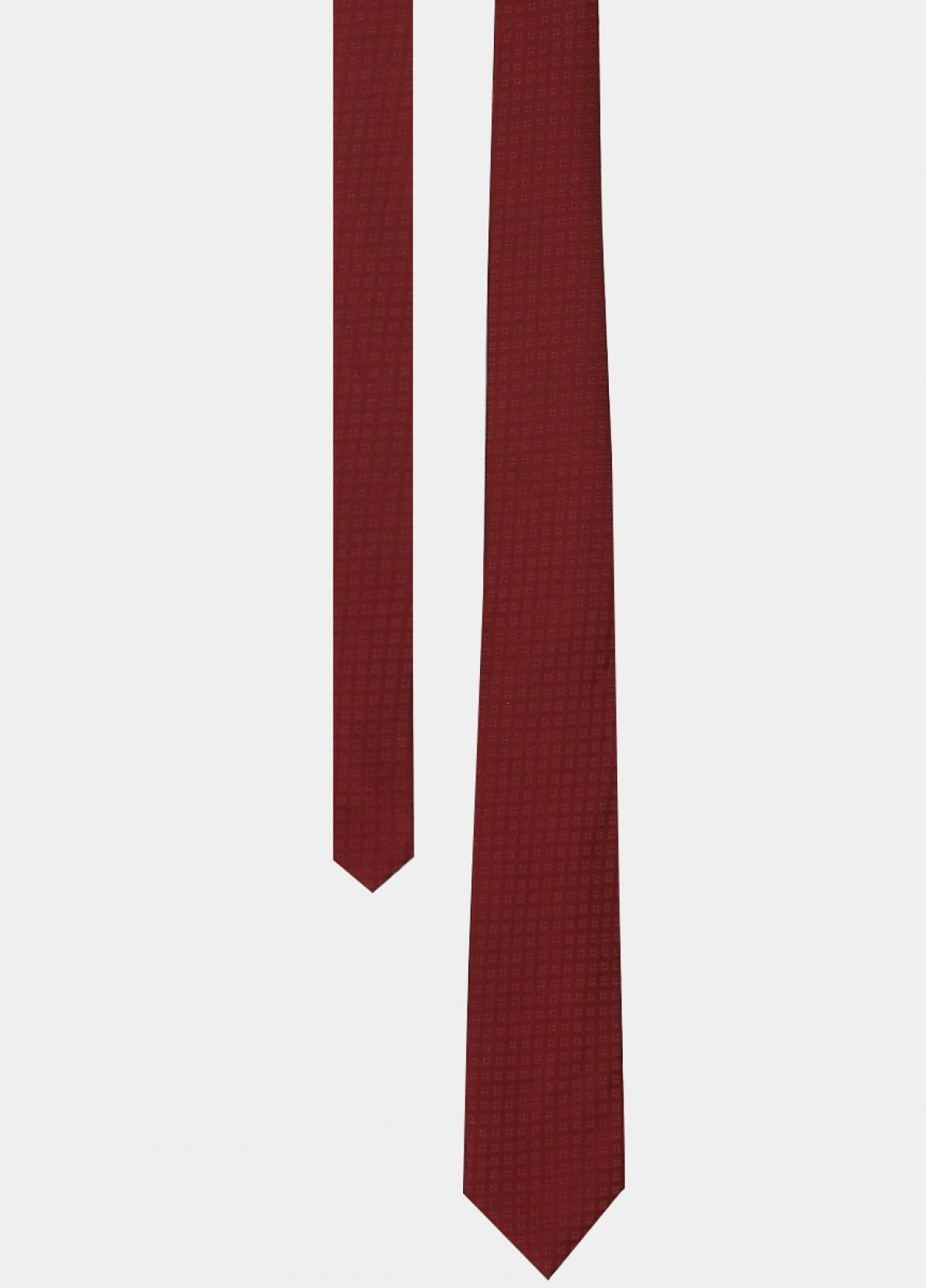 Maroon Printed Silk Tie