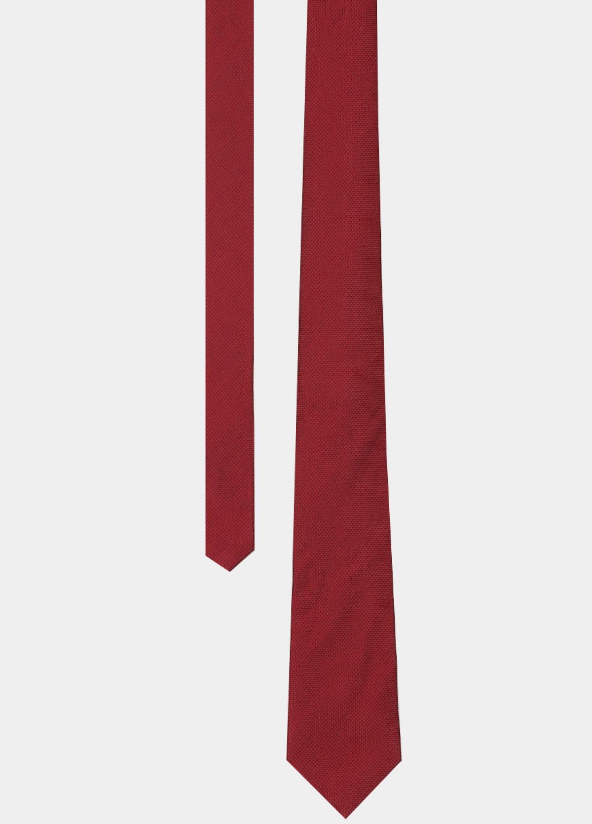 Red Woven Silk Tie