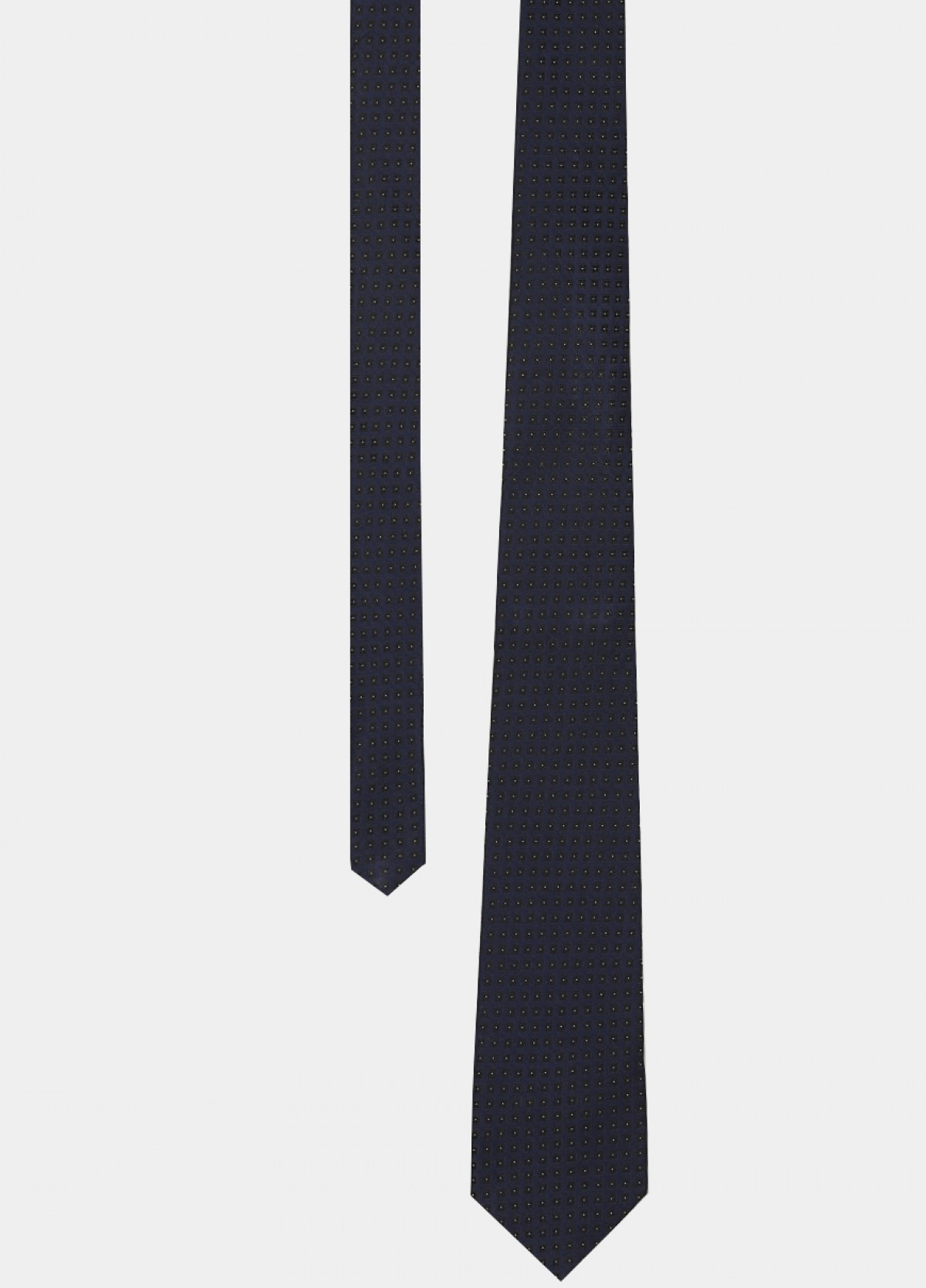 Navy Blue Woven Silk Tie