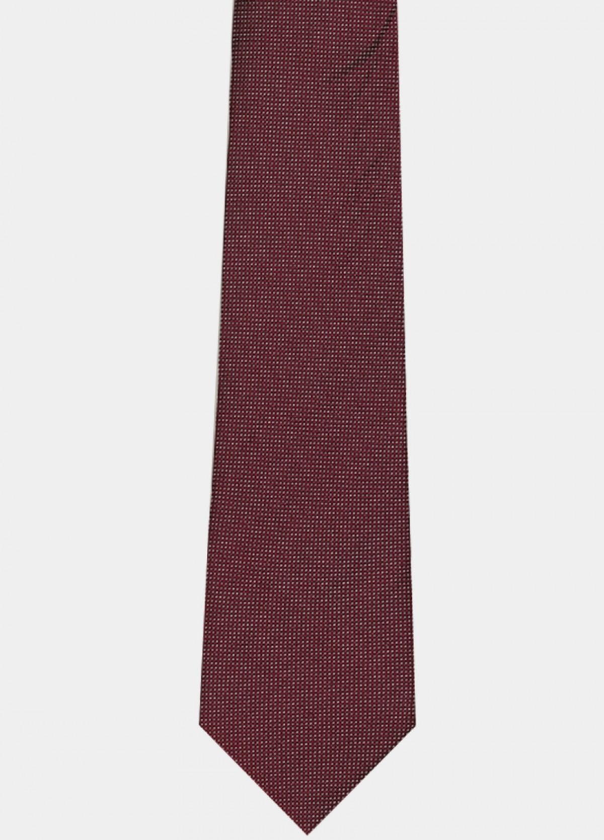 Magenta Woven Silk Tie