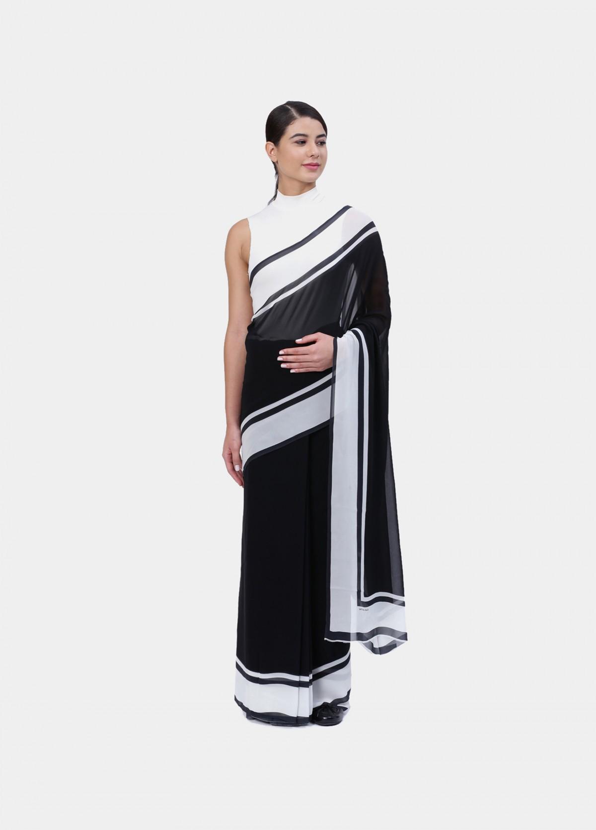 The Monochromatic Palette Sari