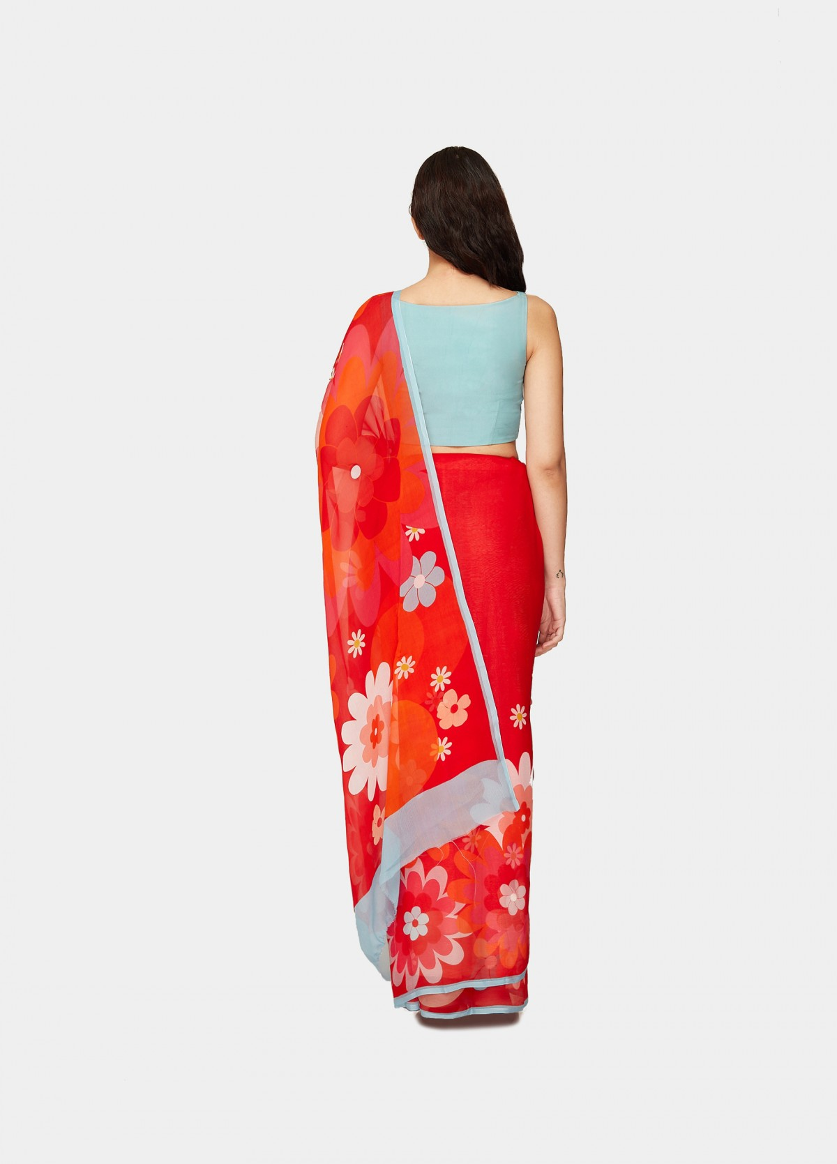 The Valley of Flowers Sari