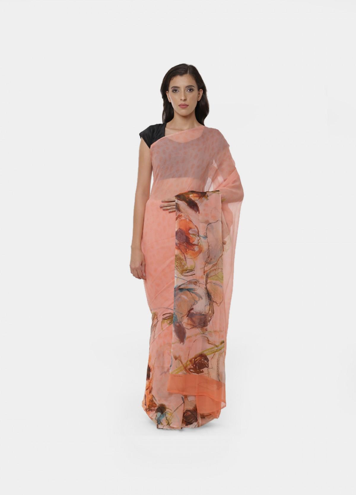 The Silk Chiffon Sari