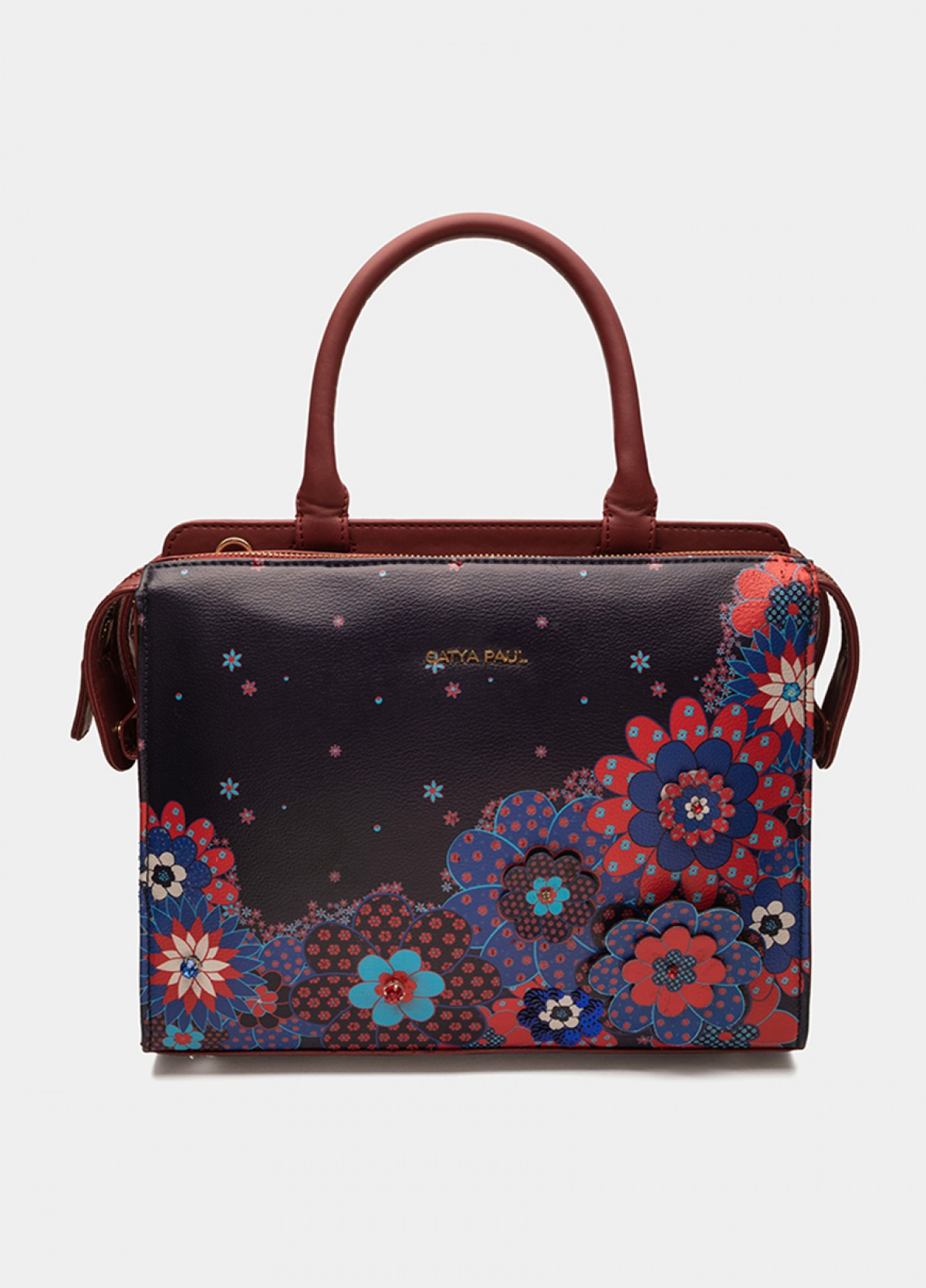 The Valley of Flowers Satchel Bag