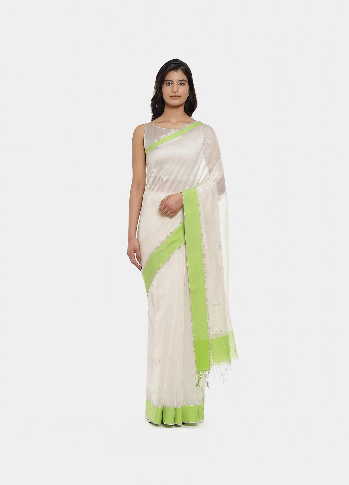 The Mogra Jamdani Sari