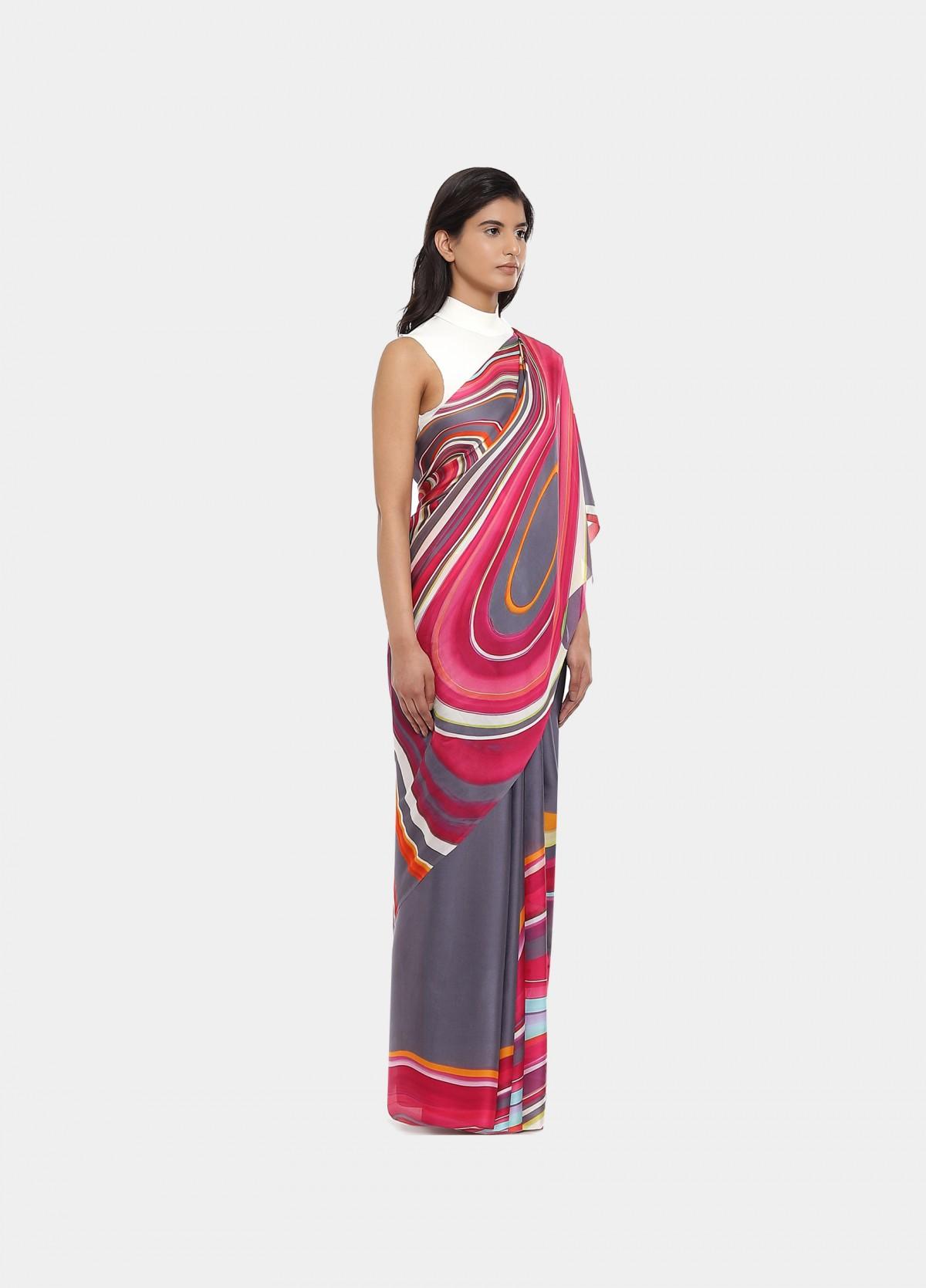 The Strawberry Fields Sari