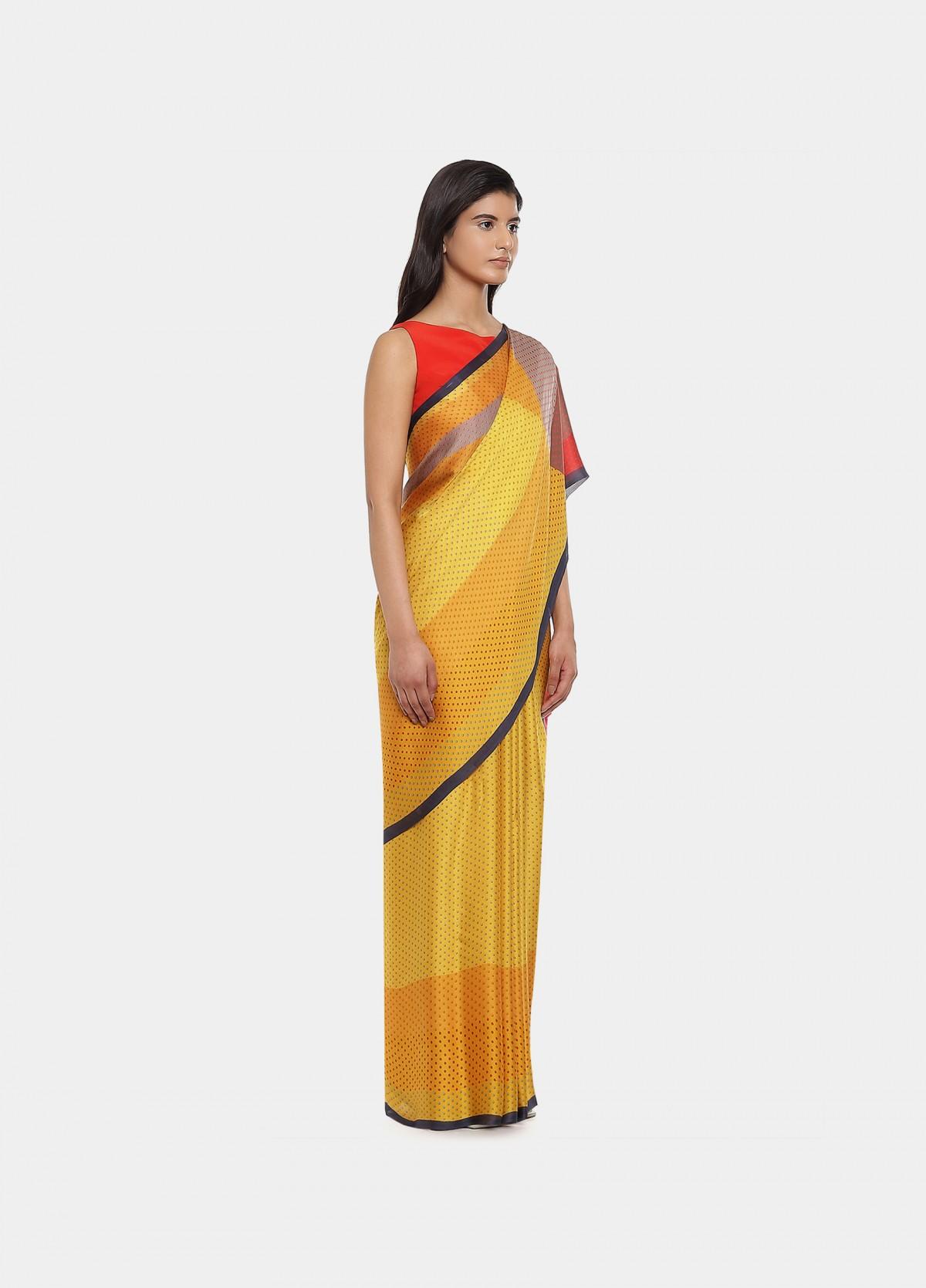 The Yellow Submarine Sari