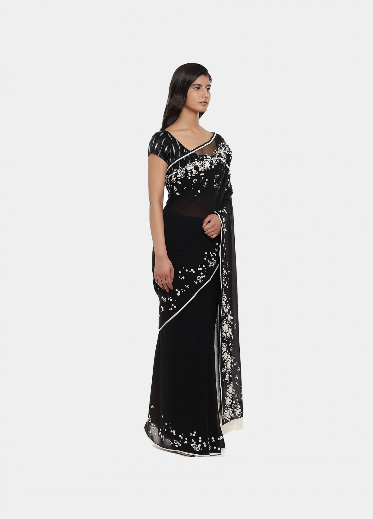 The Firangipani Sari