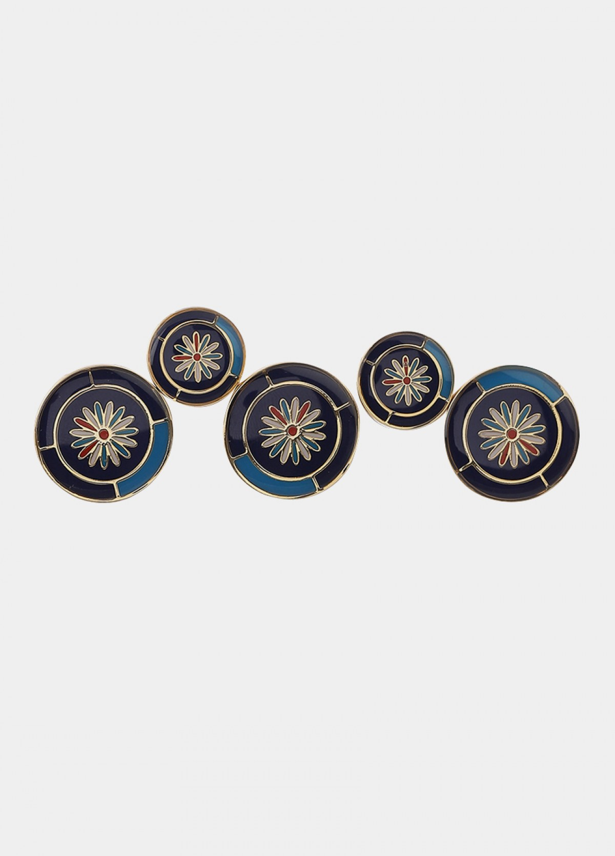 The Jasmine Valley of Flower odd pair Buttons
