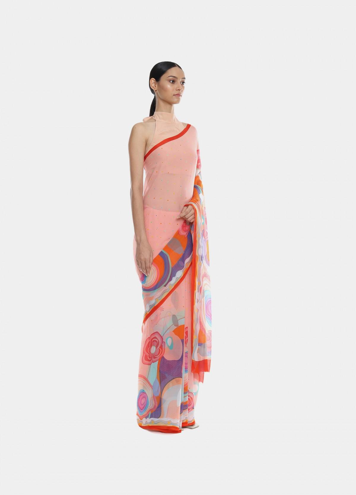 The Poppy Garden Sari